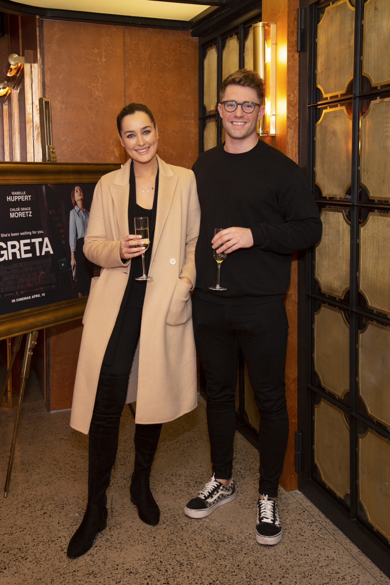 Rachel Purcell & Kevin McKeigue pictured at a special preview screening of GRETA at The Stella Theatre, Ranelagh. GRETA, directed by Academy Award®-winner Neil Jordan and starring Chloë Grace Moretz and Isabelle Huppert, hits cinemas across Ireland this Thursday 18th April. Photo: Anthony Woods
