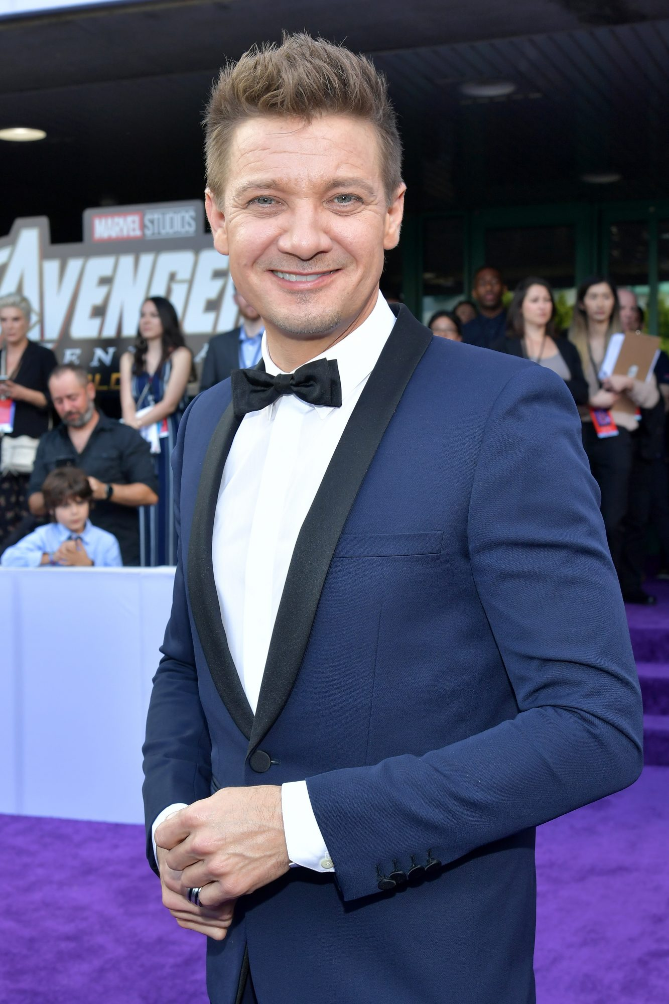 """Jeremy Renner attends the world premiere of Walt Disney Studios Motion Pictures """"Avengers: Endgame"""" at the Los Angeles Convention Center on April 22, 2019 in Los Angeles, California. (Photo by Amy Sussman/Getty Images)"""