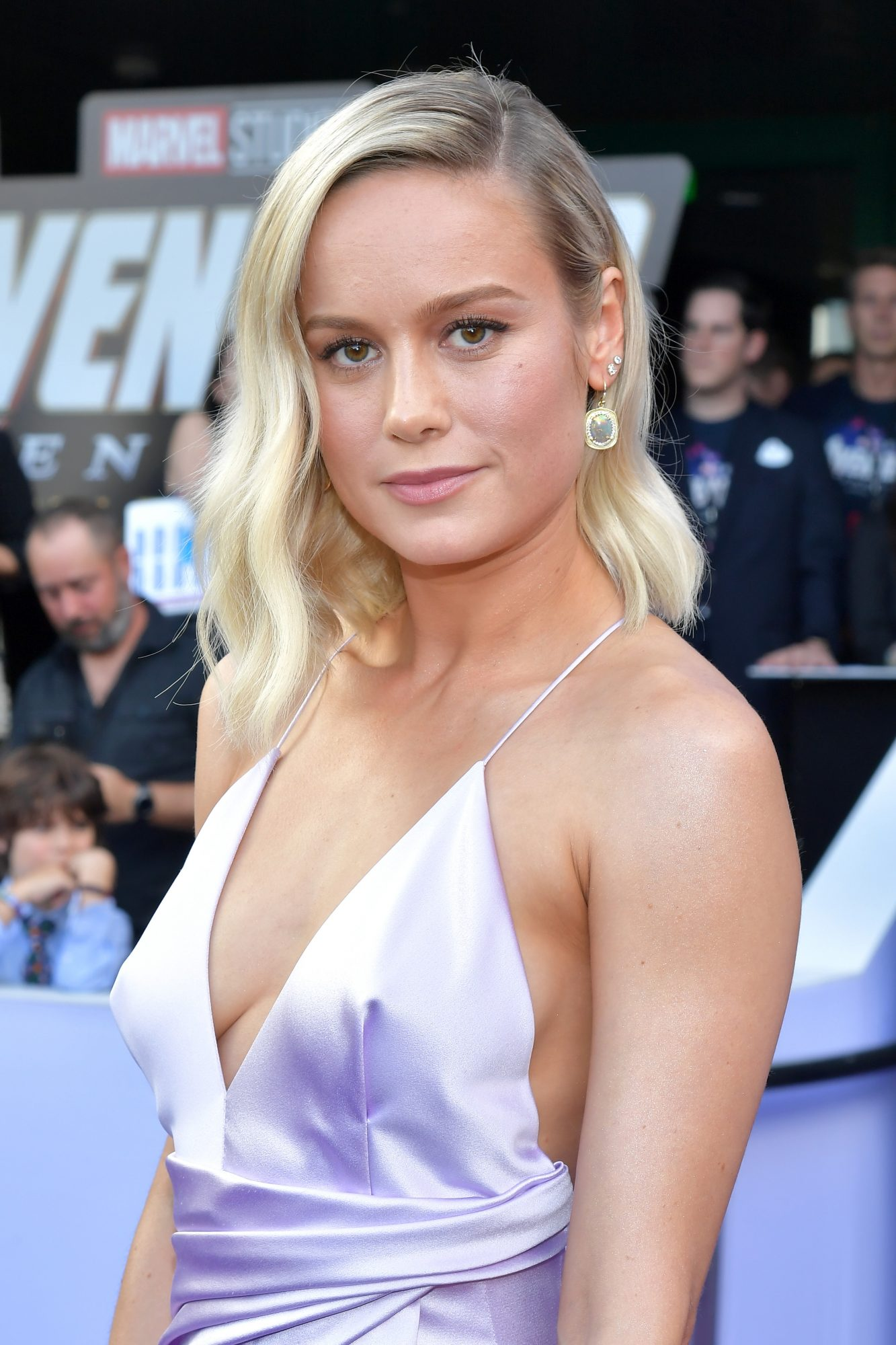 """Brie Larson attends the world premiere of Walt Disney Studios Motion Pictures """"Avengers: Endgame"""" at the Los Angeles Convention Center on April 22, 2019 in Los Angeles, California.  (Photo by Amy Sussman/Getty Images)"""