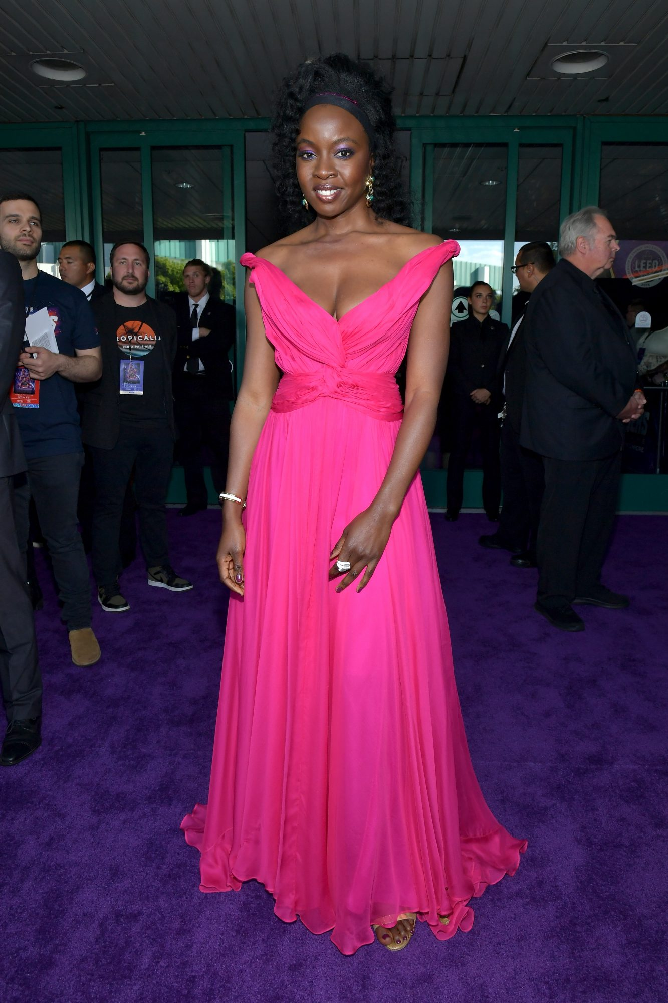 """Danai Gurira attends the world premiere of Walt Disney Studios Motion Pictures """"Avengers: Endgame"""" at the Los Angeles Convention Center on April 22, 2019 in Los Angeles, California.  (Photo by Amy Sussman/Getty Images)"""
