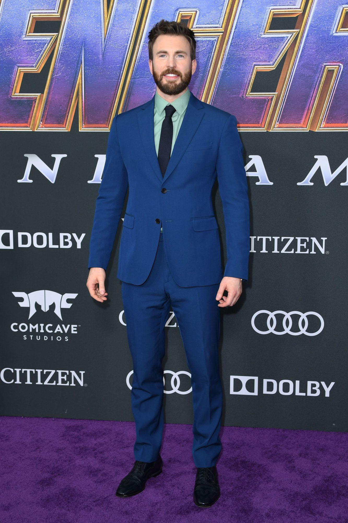 """US actor Chris Evans arrives for the World premiere of Marvel Studios' """"Avengers: Endgame"""" at the Los Angeles Convention Center on April 22, 2019 in Los Angeles. (Photo by VALERIE MACON/AFP/Getty Images)"""