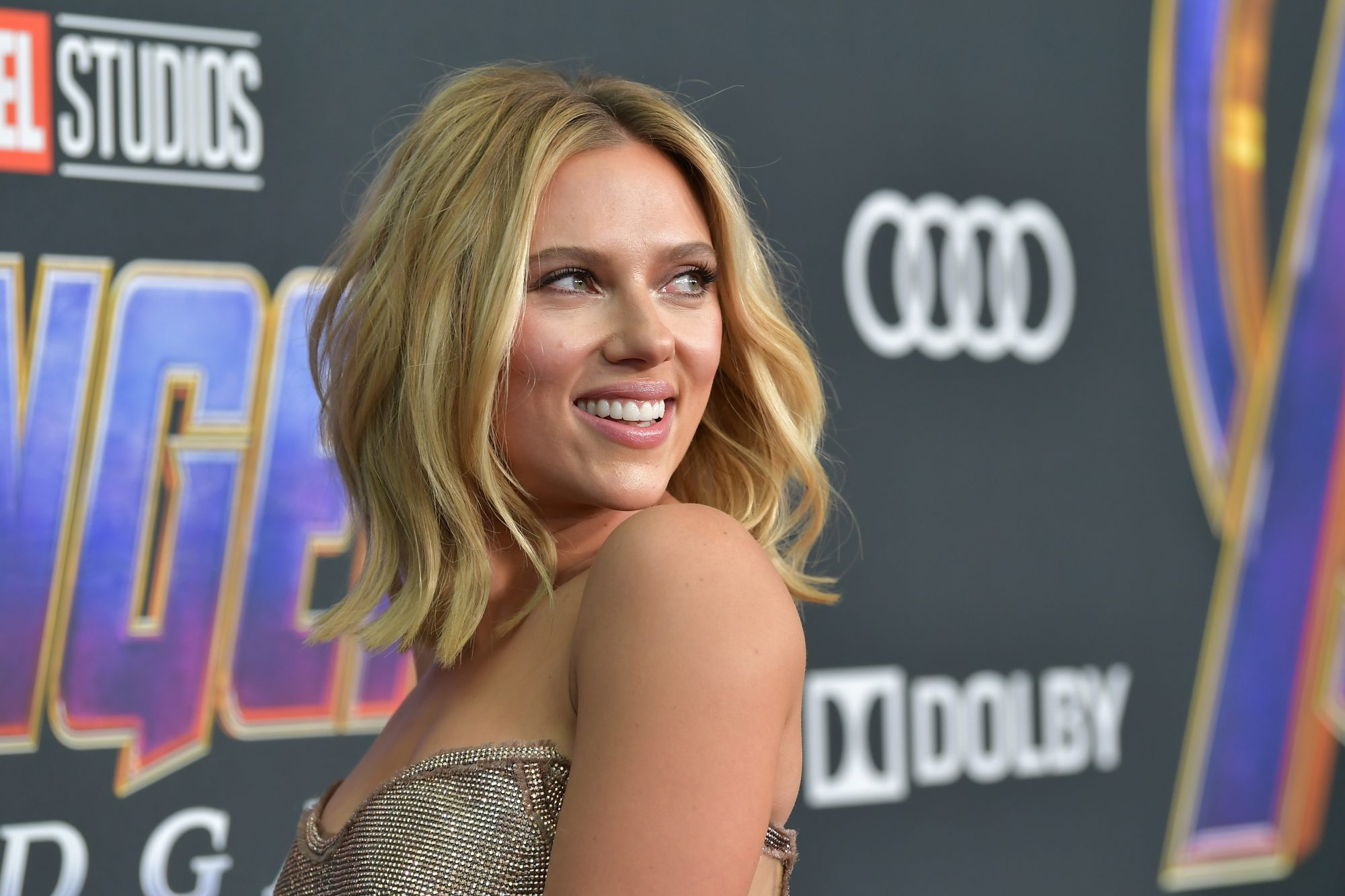 """Scarlett Johansson attends the world premiere of Walt Disney Studios Motion Pictures """"Avengers: Endgame"""" at the Los Angeles Convention Center on April 22, 2019 in Los Angeles, California.  (Photo by Amy Sussman/Getty Images)"""