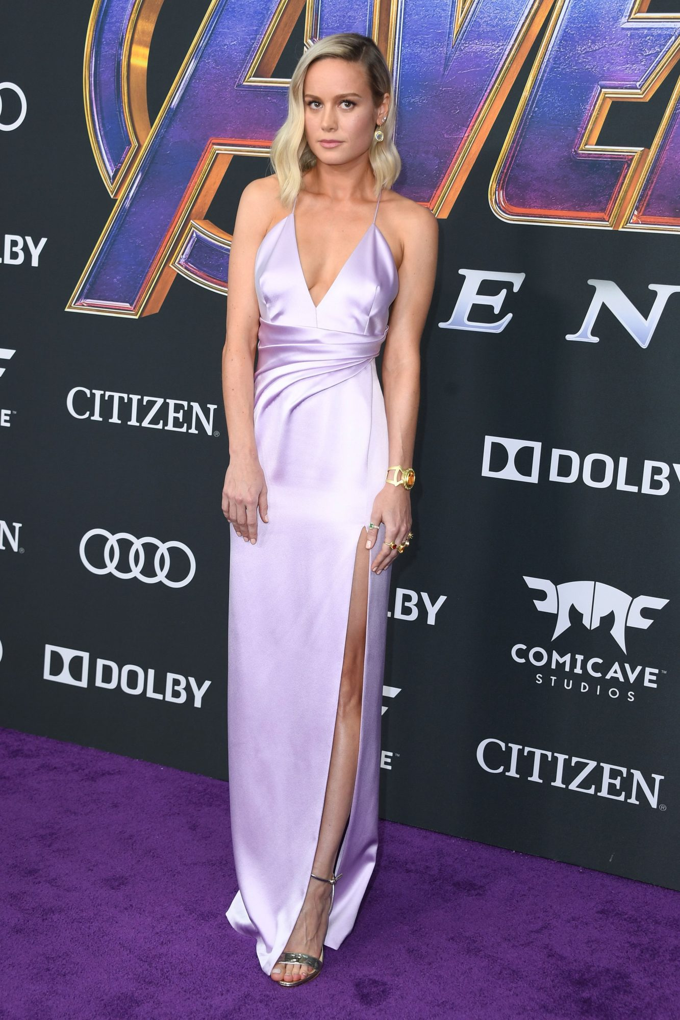 """US actress Brie Larson arrives for the World premiere of Marvel Studios' """"Avengers: Endgame"""" at the Los Angeles Convention Center on April 22, 2019 in Los Angeles. (Photo by VALERIE MACON/AFP/Getty Images)"""