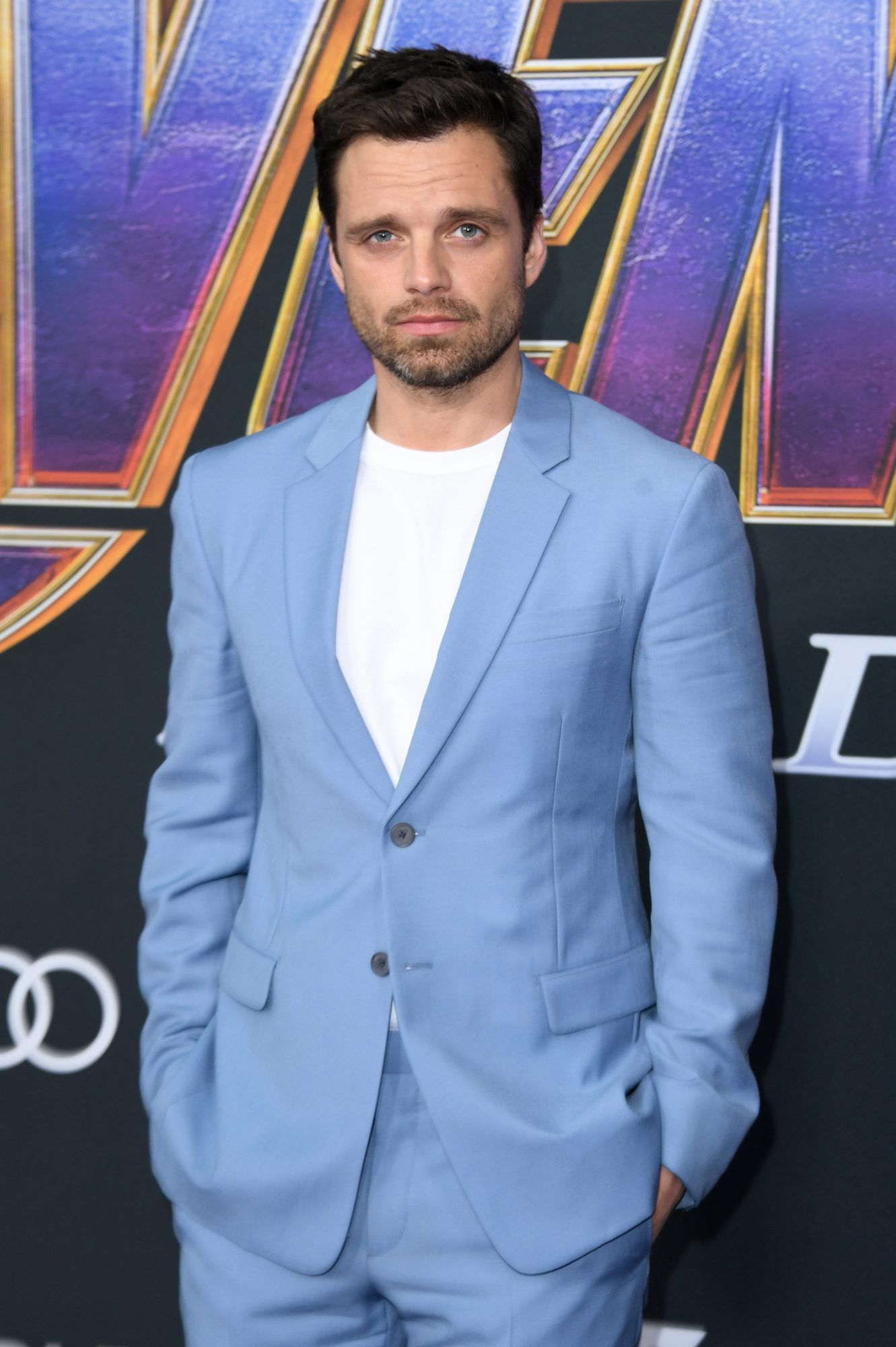 """Romanian/US actor Sebastian Stan arrives for the World premiere of Marvel Studios' """"Avengers: Endgame"""" at the Los Angeles Convention Center on April 22, 2019 in Los Angeles. (Photo by VALERIE MACON/AFP/Getty Images)"""