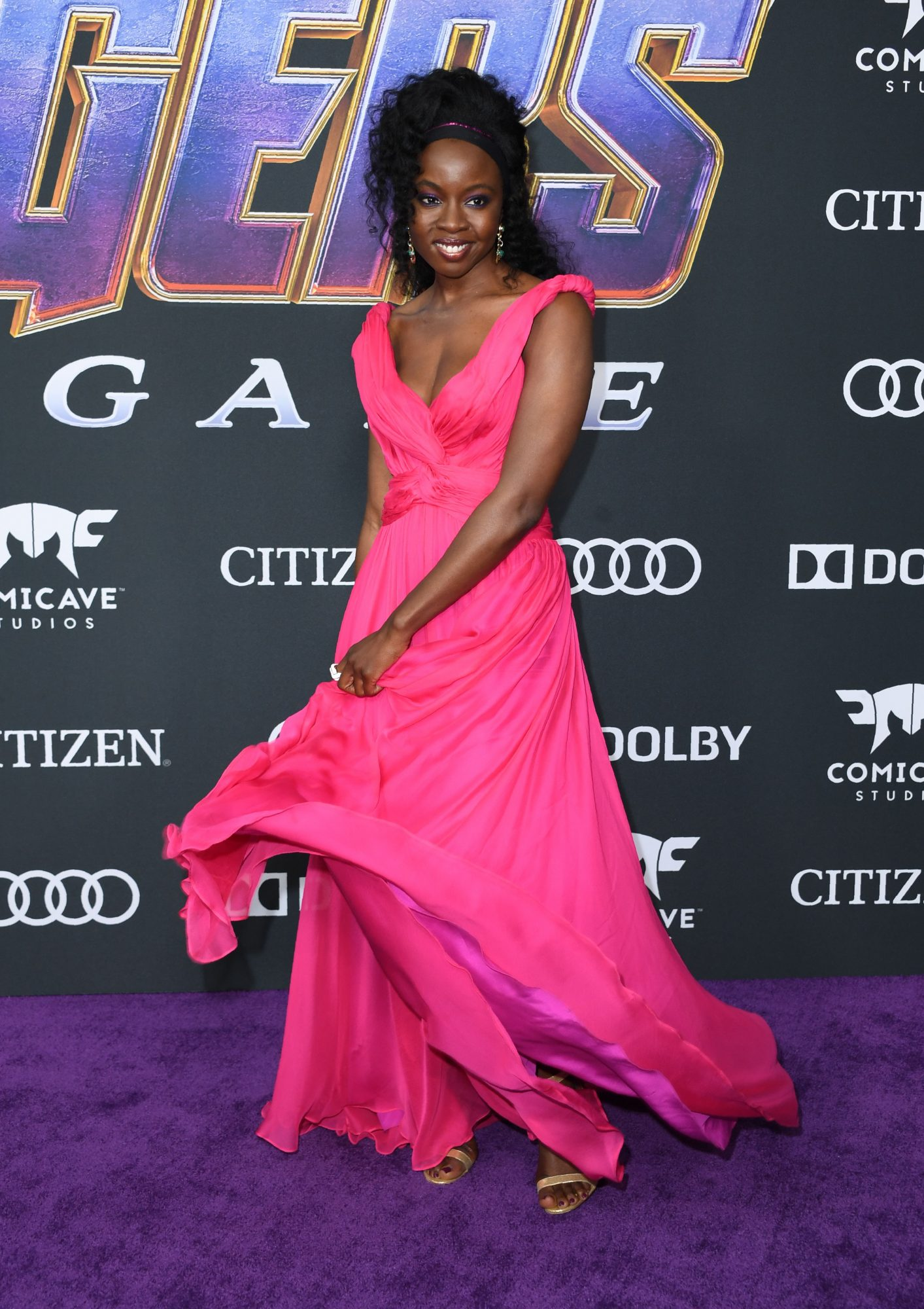 """US actress Danai Gurira arrives for the World premiere of Marvel Studios' """"Avengers: Endgame"""" at the Los Angeles Convention Center on April 22, 2019 in Los Angeles. (Photo by VALERIE MACON/AFP/Getty Images)"""
