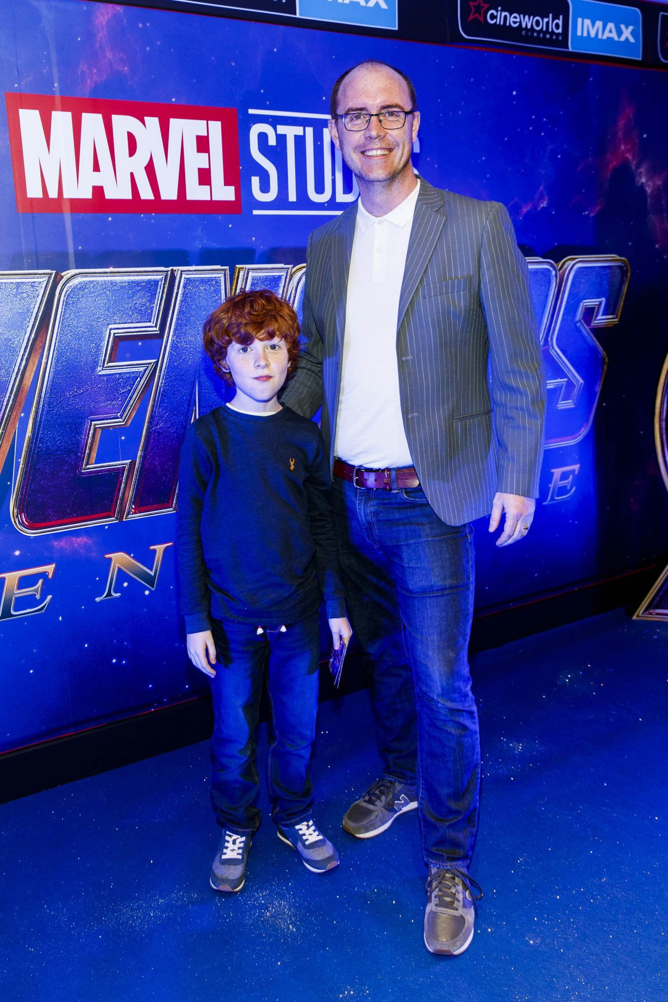 Brian Redmond with his son Alex pictured at the special preview screening of Marvel Studios' Avengers: Endgame at Cineworld Dublin. Picture by: Andres Poveda