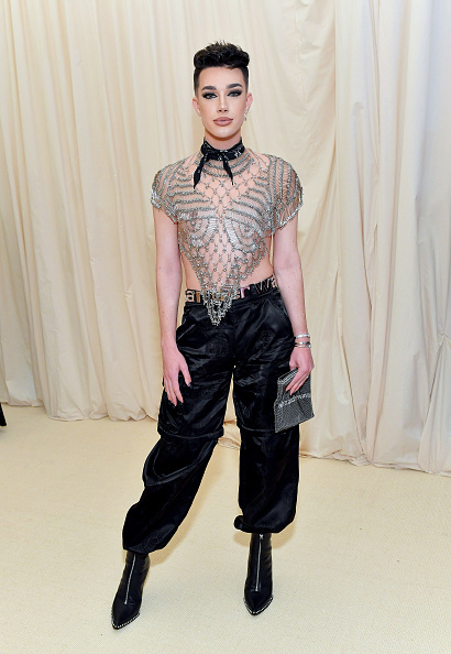 James Charles attends The 2019 Met Gala Celebrating Camp: Notes on Fashion at Metropolitan Museum of Art on May 06, 2019 in New York City. (Photo by Mike Coppola/MG19/Getty Images for The Met Museum/Vogue )