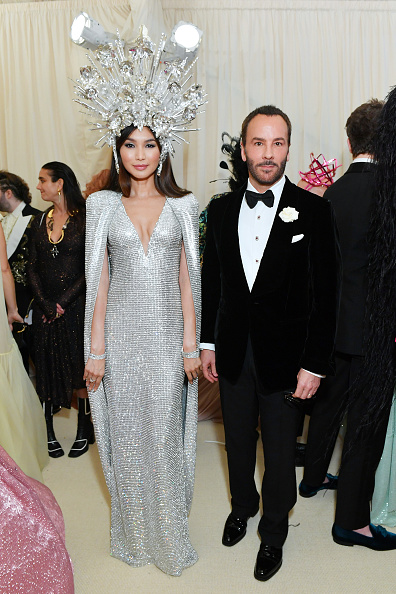 Gemma Chan and Tom Ford attend The 2019 Met Gala Celebrating Camp: Notes on Fashion at Metropolitan Museum of Art on May 06, 2019 in New York City. (Photo by Mike Coppola/MG19/Getty Images for The Met Museum/Vogue )