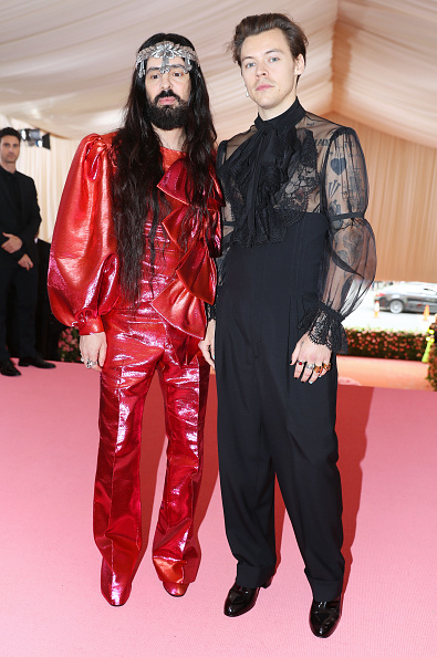 Alessandro Michele and Harry Styles attend The 2019 Met Gala Celebrating Camp: Notes on Fashion at Metropolitan Museum of Art on May 06, 2019 in New York City. (Photo by Kevin Tachman/MG19/Getty Images)