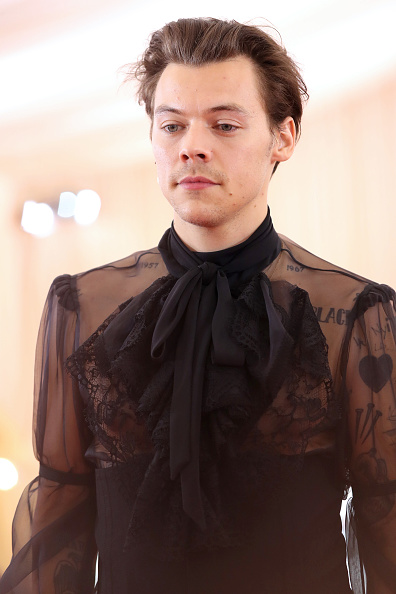 Harry Styles attends The 2019 Met Gala Celebrating Camp: Notes on Fashion at Metropolitan Museum of Art on May 06, 2019 in New York City. (Photo by Kevin Tachman/MG19/Getty Images)