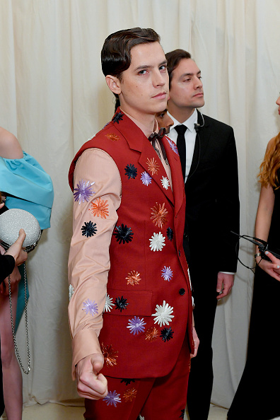 Cole Sprouse attends The 2019 Met Gala Celebrating Camp: Notes on Fashion at Metropolitan Museum of Art on May 06, 2019 in New York City. (Photo by Mike Coppola/MG19/Getty Images for The Met Museum/Vogue )