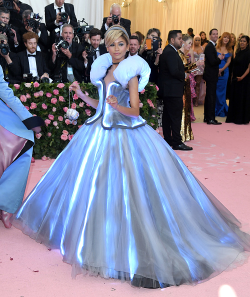 Zendaya arrives for the 2019 Met Gala celebrating Camp: Notes on Fashion at The Metropolitan Museum of Art on May 06, 2019 in New York City. (Photo by Karwai Tang/Getty Images)