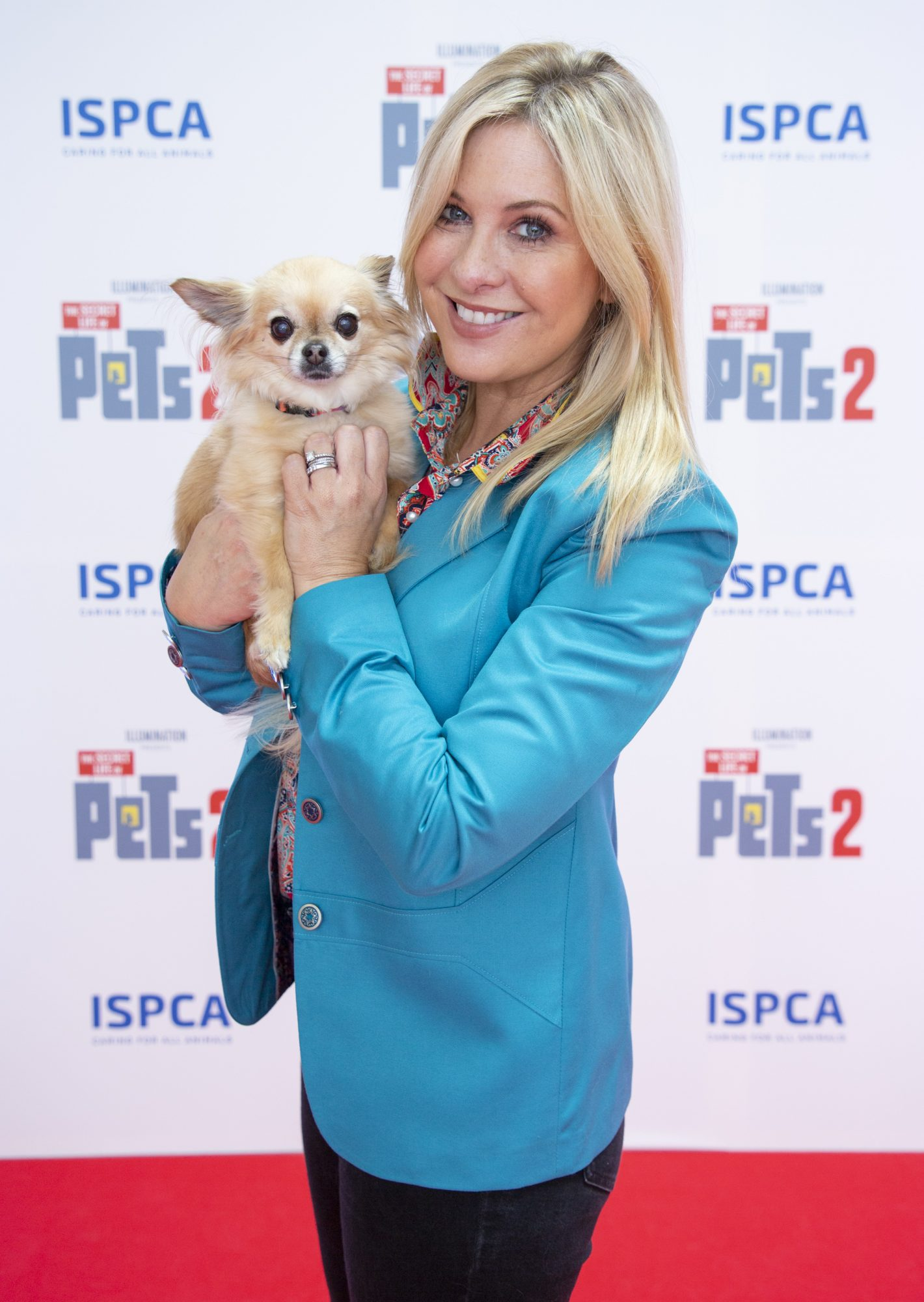 Laura Woods & Minnie the dog pictured at the Irish premiere screening of The Secret Life of Pets 2 at Odeon Point Square, Dublin hosted by Universal Pictures in association with the ISPCA. The Secret Life of Pets 2 is in cinemas from Friday May 24th. Photo: Anthony Woods