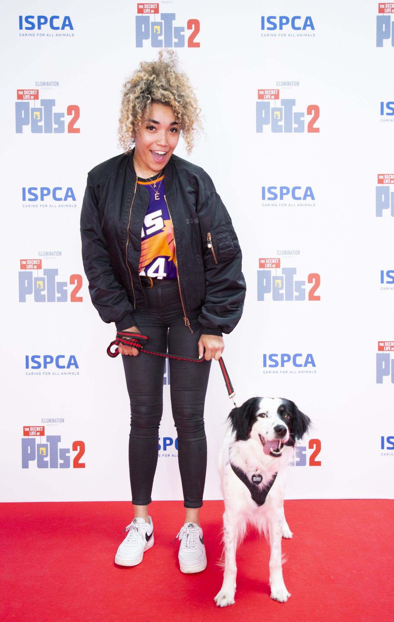 Erica Cody & Bowie pictured at the Irish premiere screening of The Secret Life of Pets 2 at Odeon Point Square, Dublin hosted by Universal Pictures in association with the ISPCA. The Secret Life of Pets 2 is in cinemas from Friday May 24th. Photo: Anthony Woods