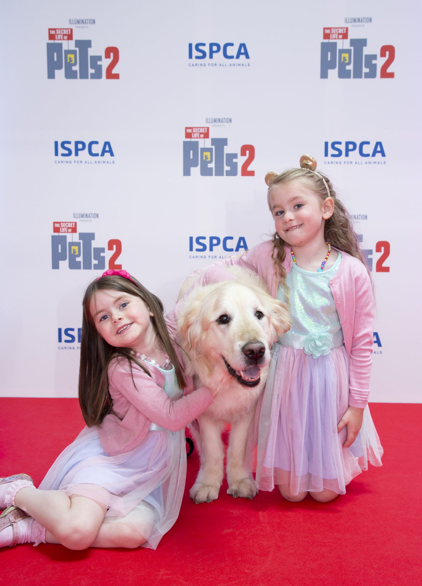 Eve MacHale  4 & Roisin Higgins 4 with dog Fionn pictured at the Irish premiere screening of The Secret Life of Pets 2 at Odeon Point Square, Dublin hosted by Universal Pictures in association with the ISPCA. The Secret Life of Pets 2 is in cinemas from Friday May 24th. Photo: Anthony Woods