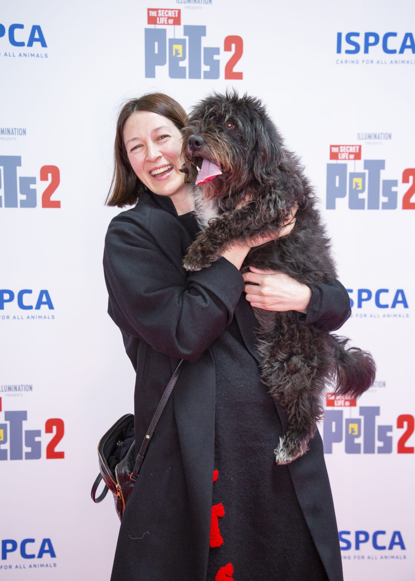 Natalie B Coleman & Lucky pictured at the Irish premiere screening of The Secret Life of Pets 2 at Odeon Point Square, Dublin hosted by Universal Pictures in association with the ISPCA. The Secret Life of Pets 2 is in cinemas from Friday May 24th. Photo: Anthony Woods
