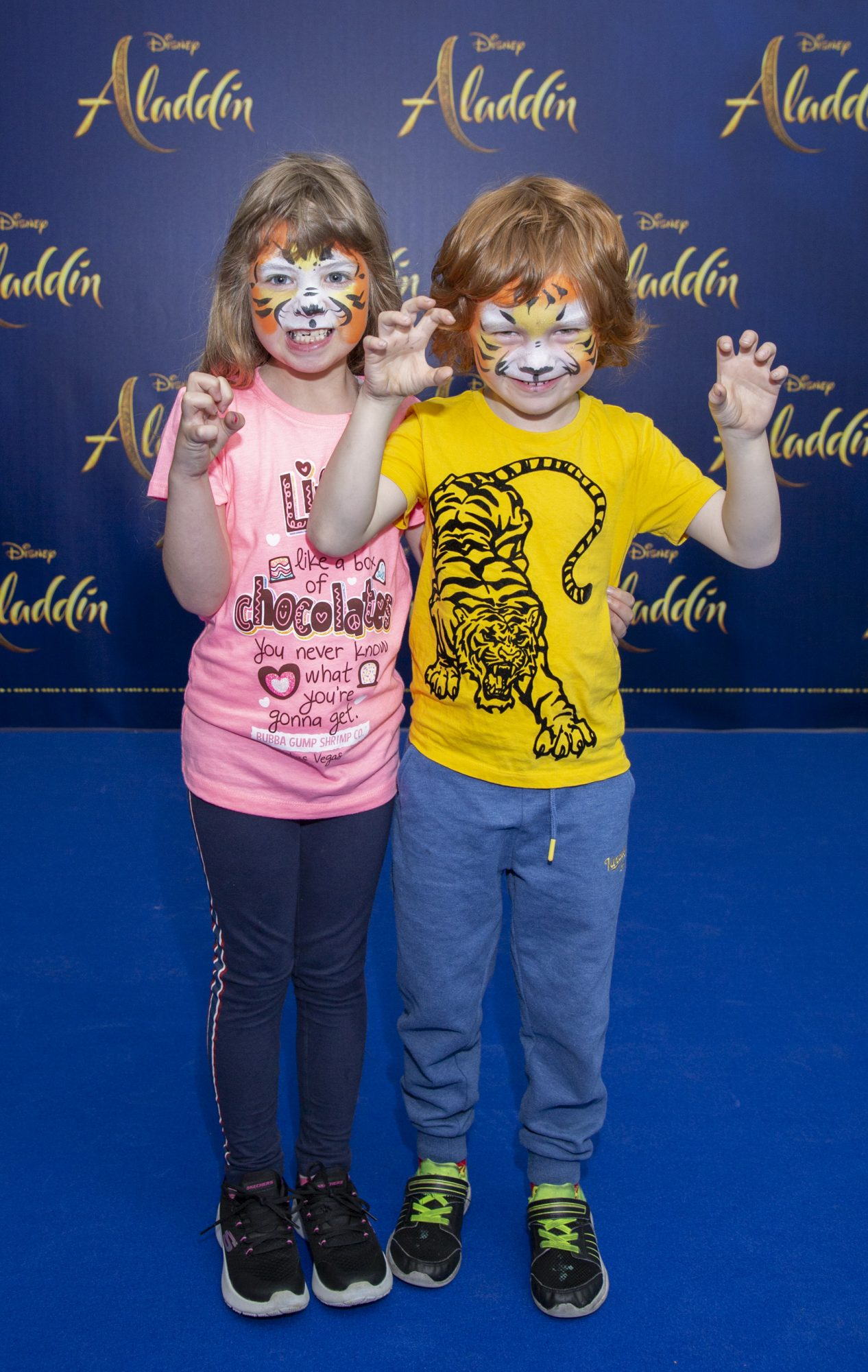Aodh Whelan & Caoimhe Fitzpatrick pictured at the special preview screening of Disney's 'Aladdin' at the Odeon Point Village. Photo: Anthony Woods