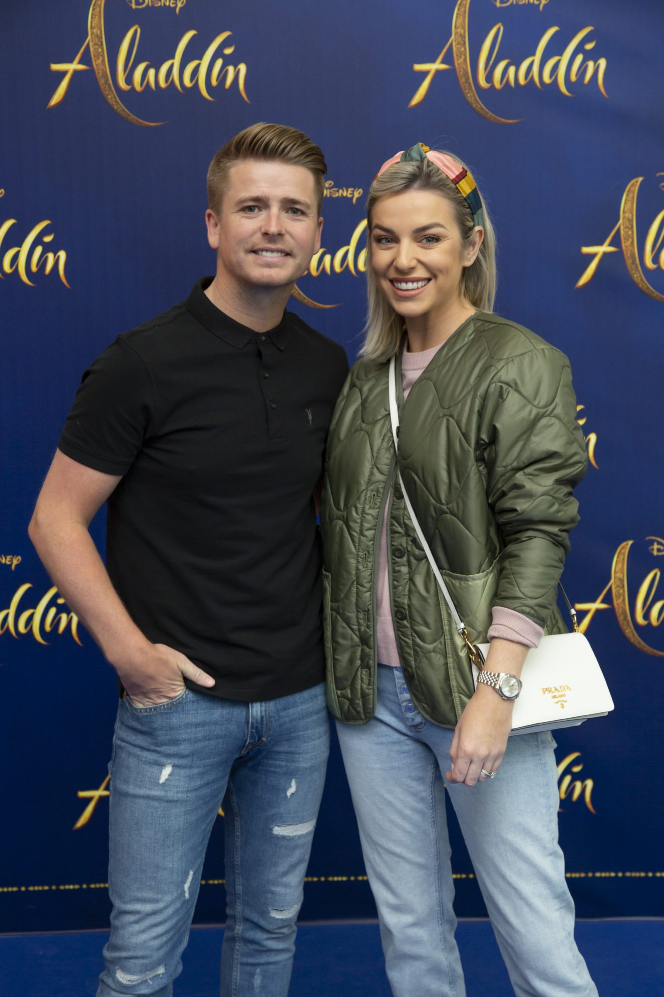 Brian Ormond and Pippa Ormond O'Connor pictured at the special preview screening of Disney's 'Aladdin' at the Odeon Point Village. Photo: Anthony Woods