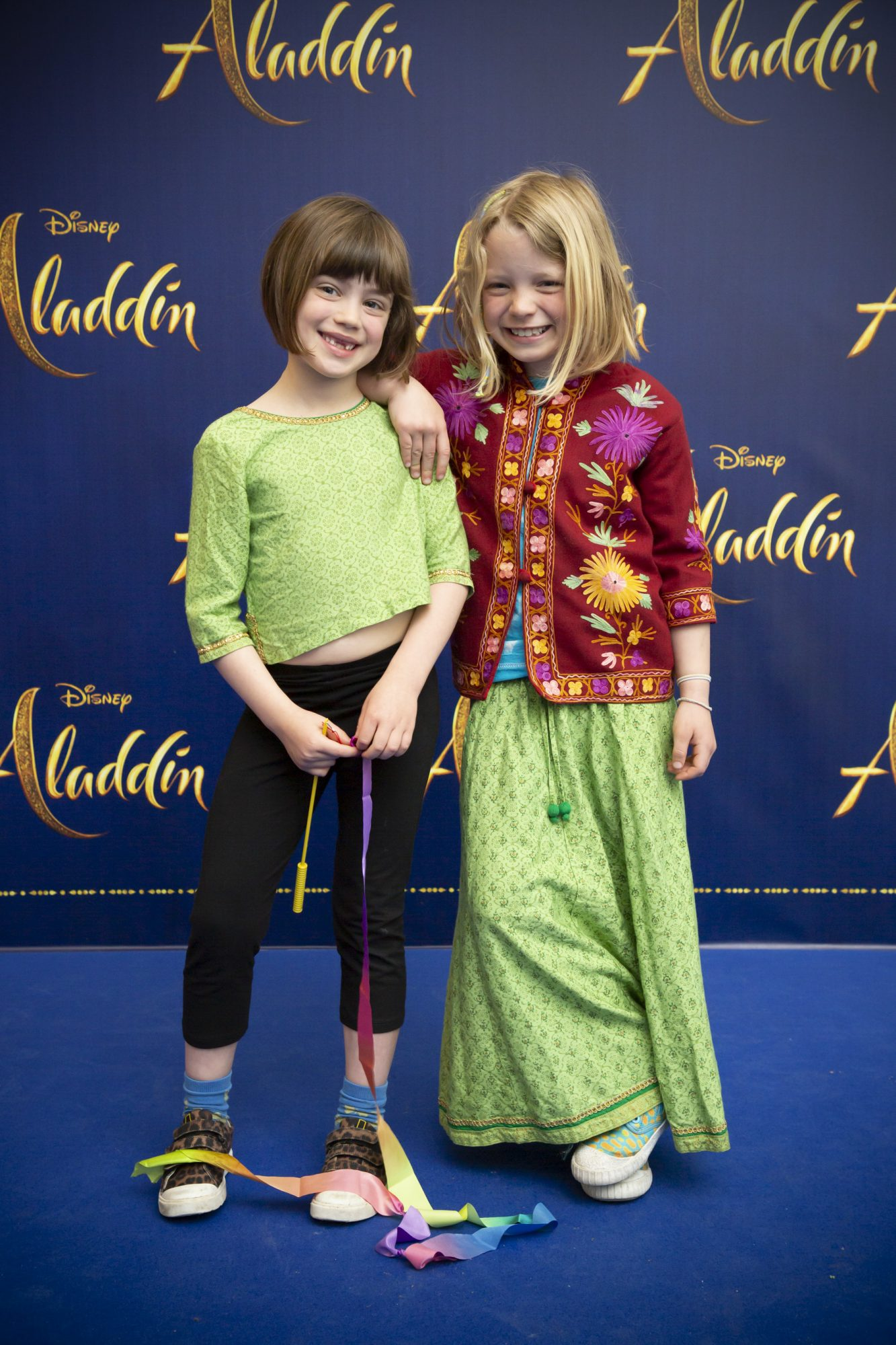 Kate & Amy Carswell pictured at the special preview screening of Disney's 'Aladdin' at the Odeon Point Village. Photo: Anthony Woods