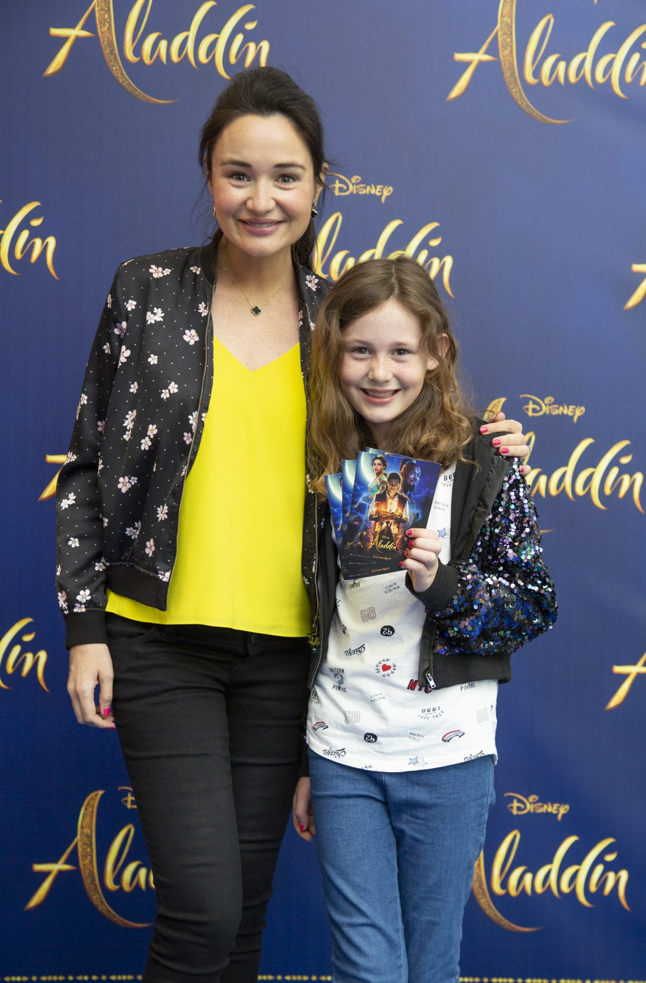 Lucy O'Driscoll Edge & Juliette O'Driscoll Brereton pictured at the special preview screening of Disney's 'Aladdin' at the Odeon Point Village. Photo: Anthony Woods