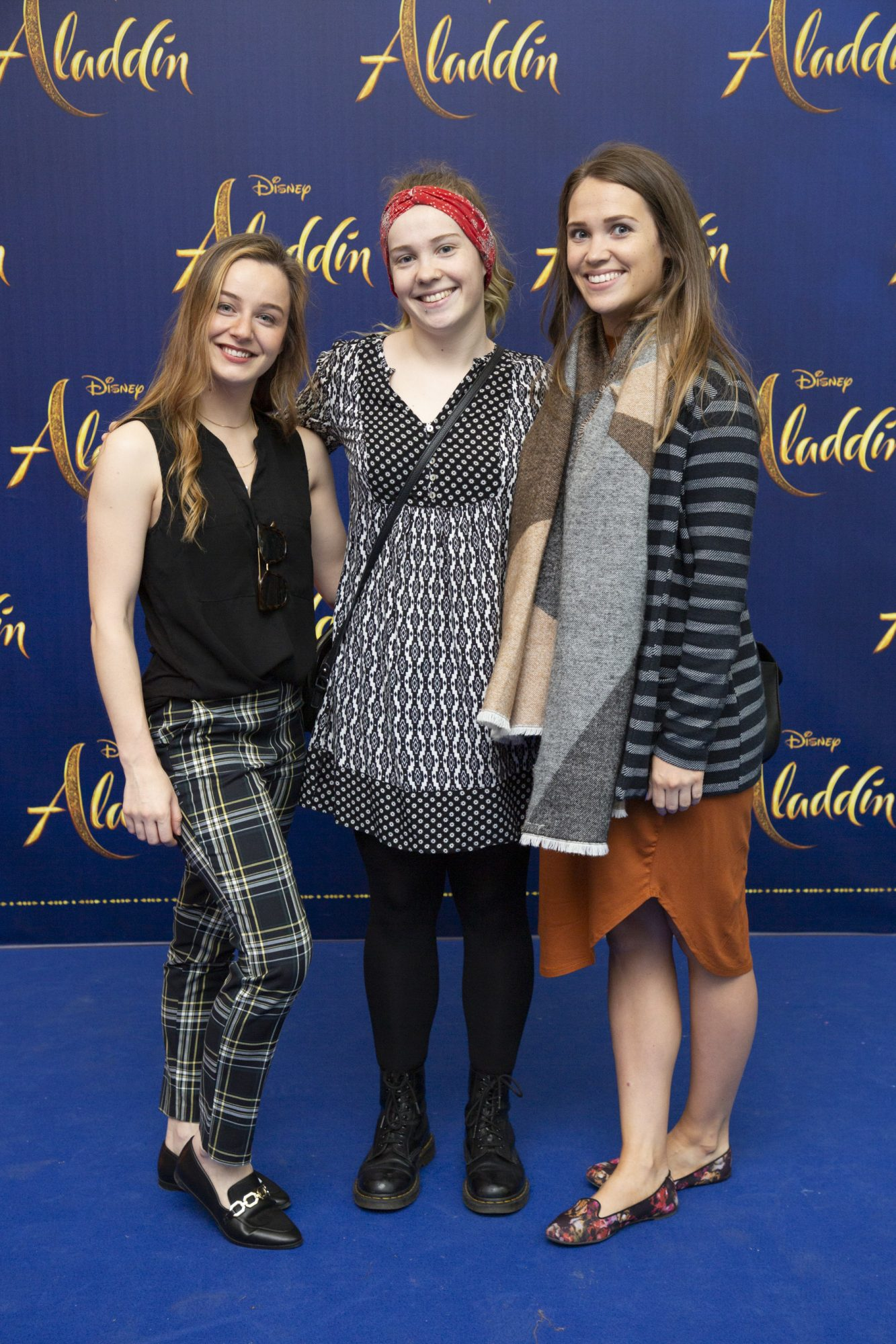 Lynne Guthrie with Ellen & Louise Grant pictured at the special preview screening of Disney's 'Aladdin' at the Odeon Point Village. Photo: Anthony Woods