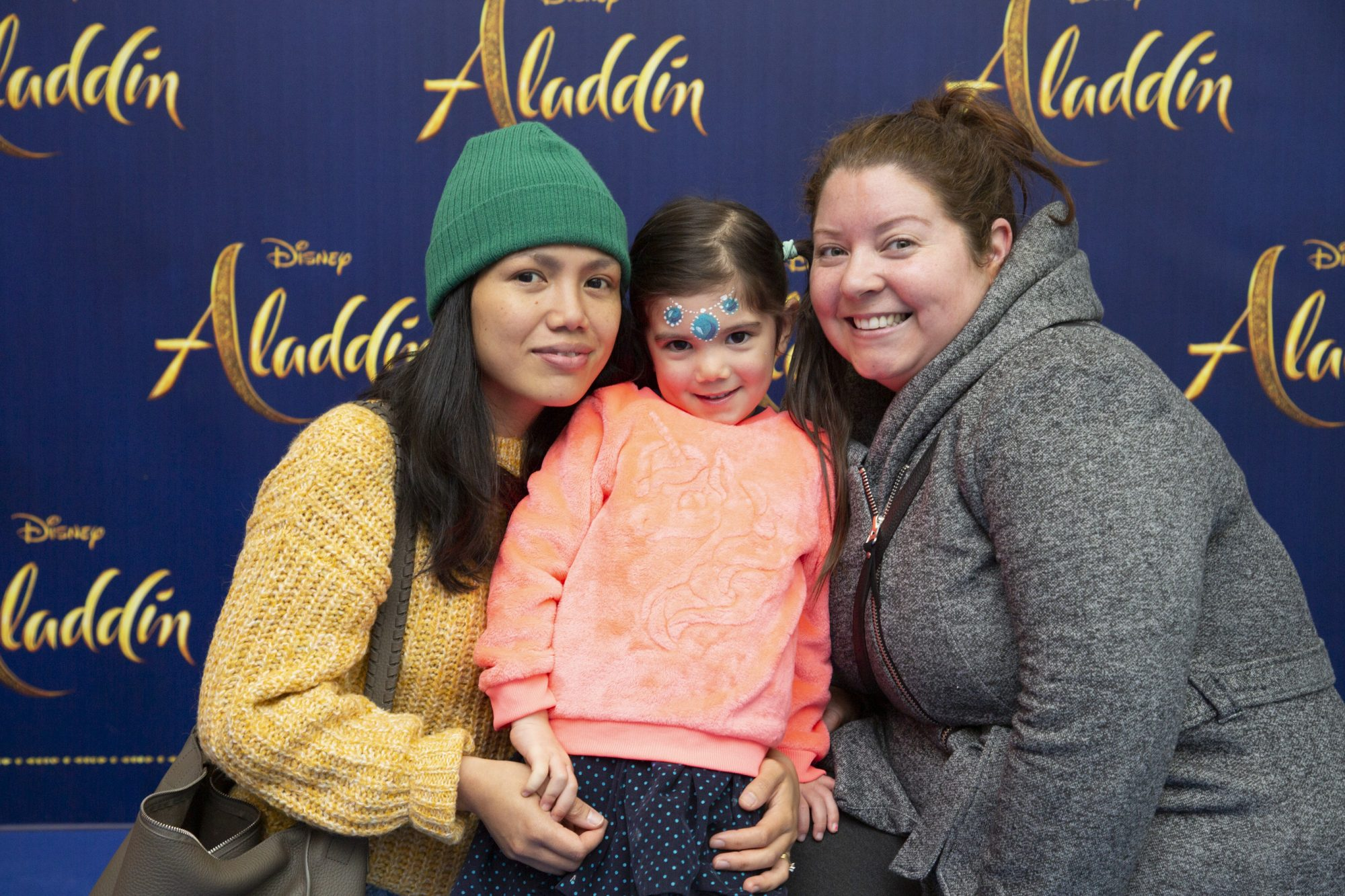 Maria Croíadh O'Keeffe and Aileen Whelan pictured at the special preview screening of Disney's 'Aladdin' at the Odeon Point Village. Photo: Anthony Woods