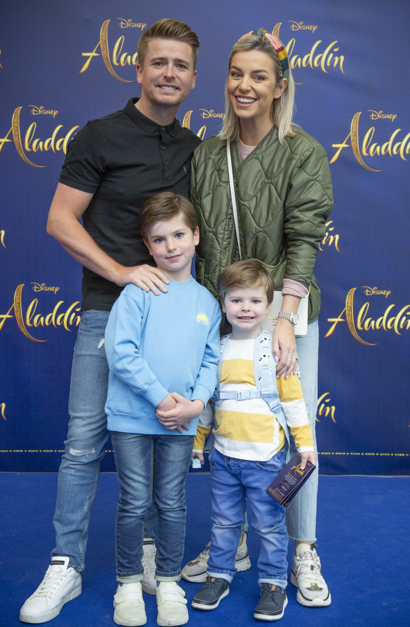 Ollie, Louis, Brian and Pippa Ormond O'Connor pictured at the special preview screening of Disney's 'Aladdin' at the Odeon Point Village. Photo: Anthony Woods