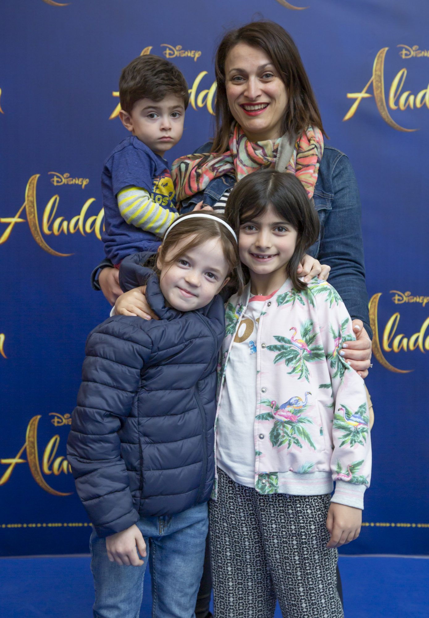 Sarina Bellissimo, Maeve Wall, Georgia Duke & Liam Duke pictured at the special preview screening of Disney's 'Aladdin' at the Odeon Point Village. Photo: Anthony Woods