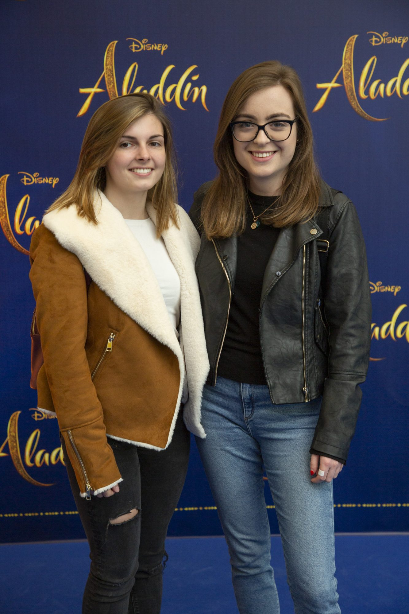 Sonja Collins & Aisling Christian pictured at the special preview screening of Disney's 'Aladdin' at the Odeon Point Village. Photo: Anthony Woods