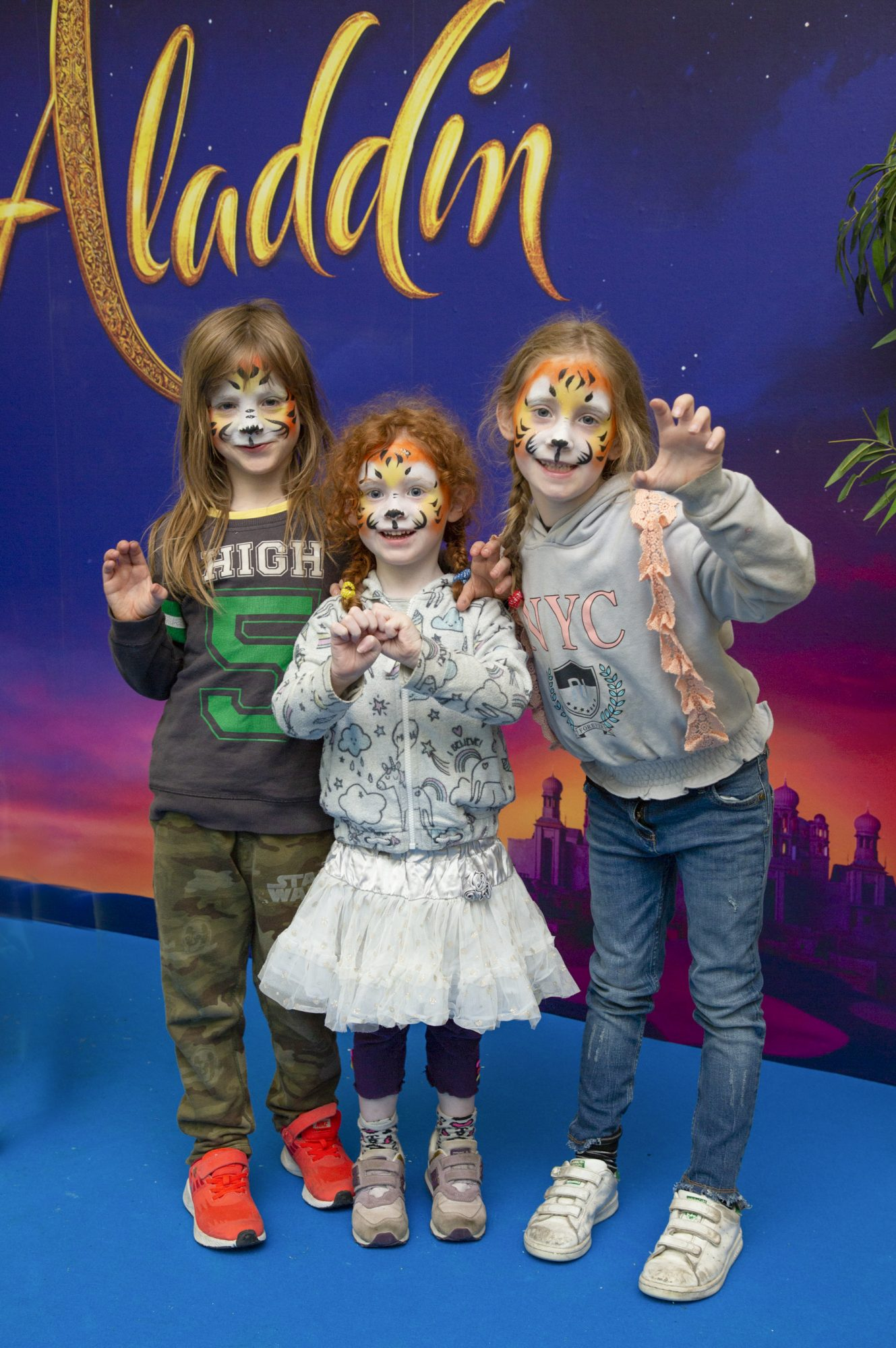 Tadhg, Cora & Aoibhinn Kilkenny pictured at the special preview screening of Disney's 'Aladdin' at the Odeon Point Village. Photo: Anthony Woods
