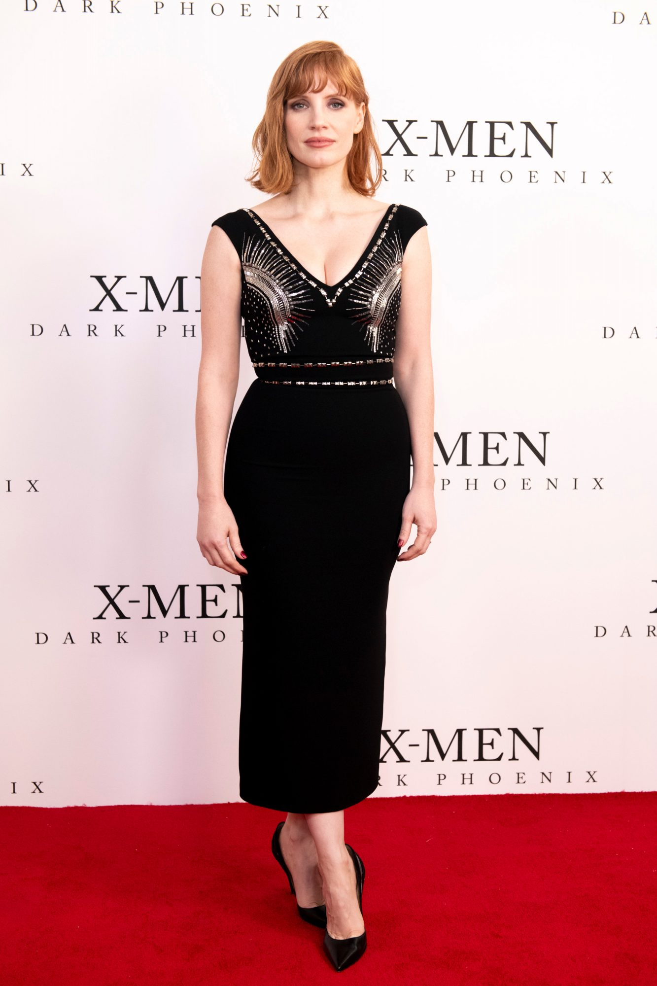 "Jessica Chastain attends the UK Fan Event of <a href=""https://entertainment.ie/cinema/movie-reviews/x-men-dark-phoenix-7257/"">X-Men: Dark Phoenix</a> in London."