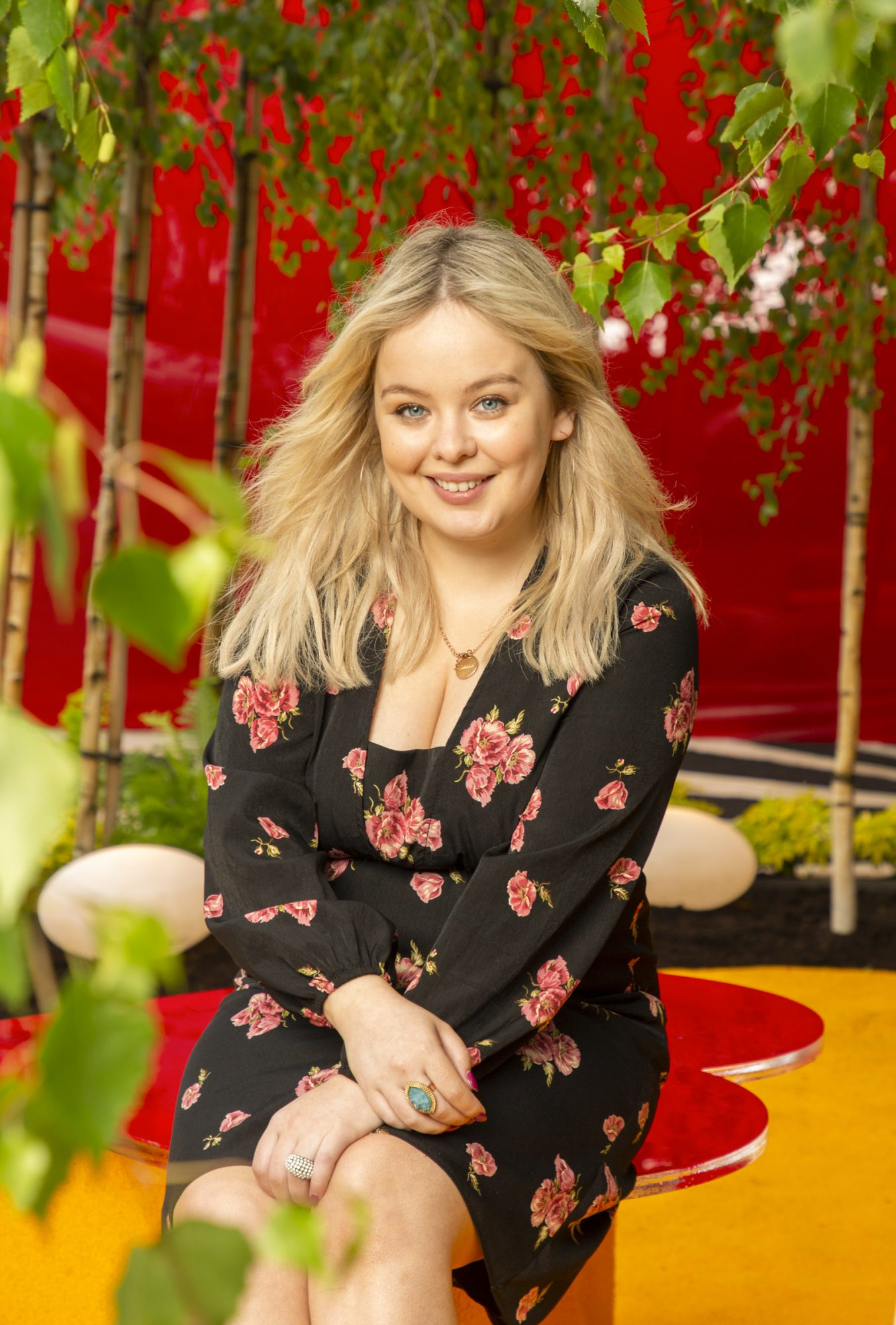 "Derry Girls actress Nicola Coughlan pictured at the Yesterday, ""What If"" show garden at this year's Bloom Festival at the Phoenix Park in Dublin inspired by upcoming comedy ""Yesterday"".  From director Danny Boyle and screenwriter Richard Curtis, and starring Lily James, Yesterday is in cinemas nationwide from June 28th. Photo: Anthony Woods"