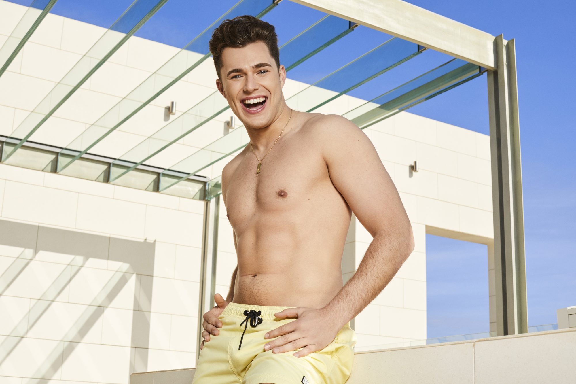 Love Island contestant Curtis Pritchard, 23, is a ballroom and latin dancer from Shropshire.
