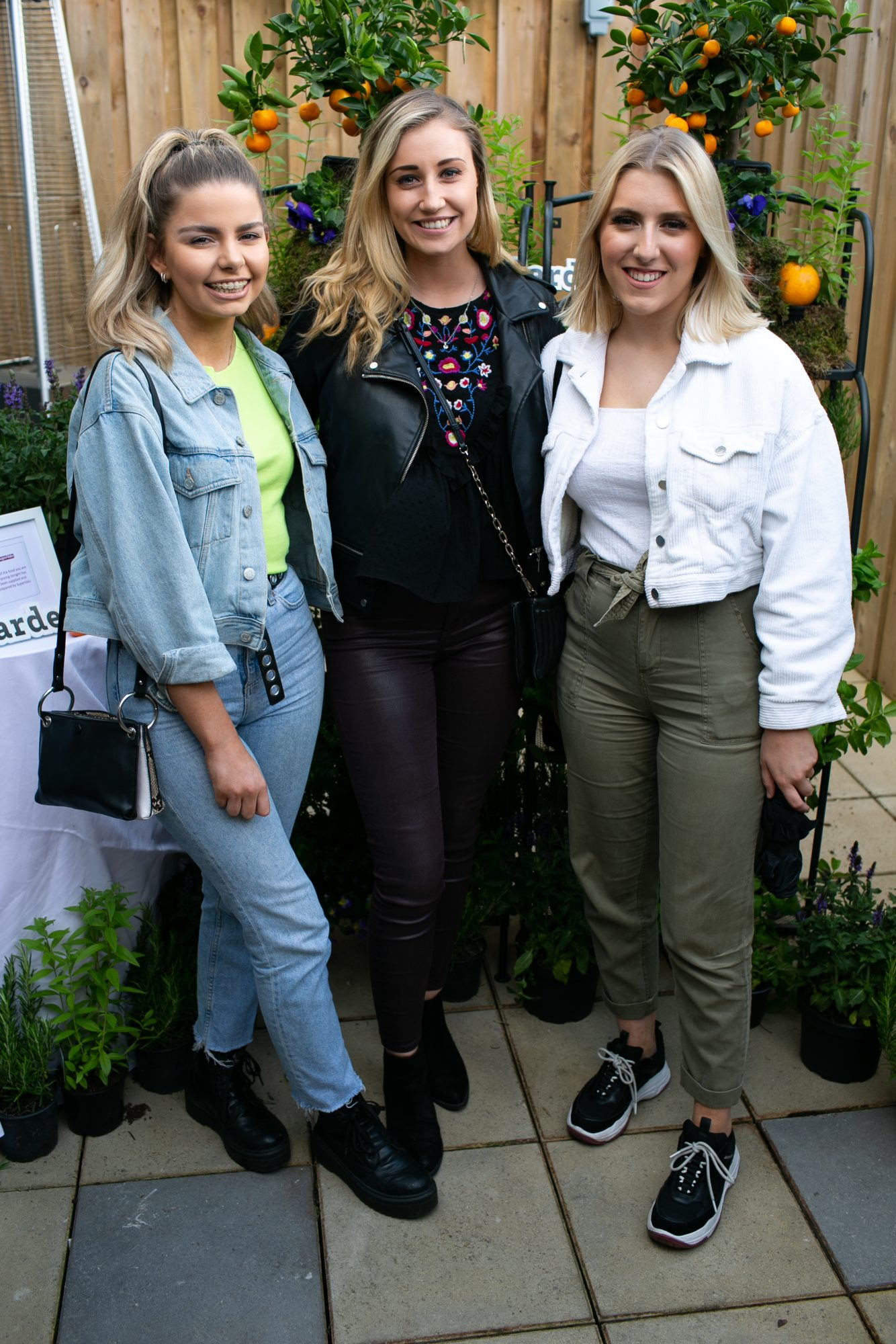 Faye Moore, Fifi Heather and Roisín Costello at the SuperValu Gin Garden held at Opium Rooftop Garden, Dublin.