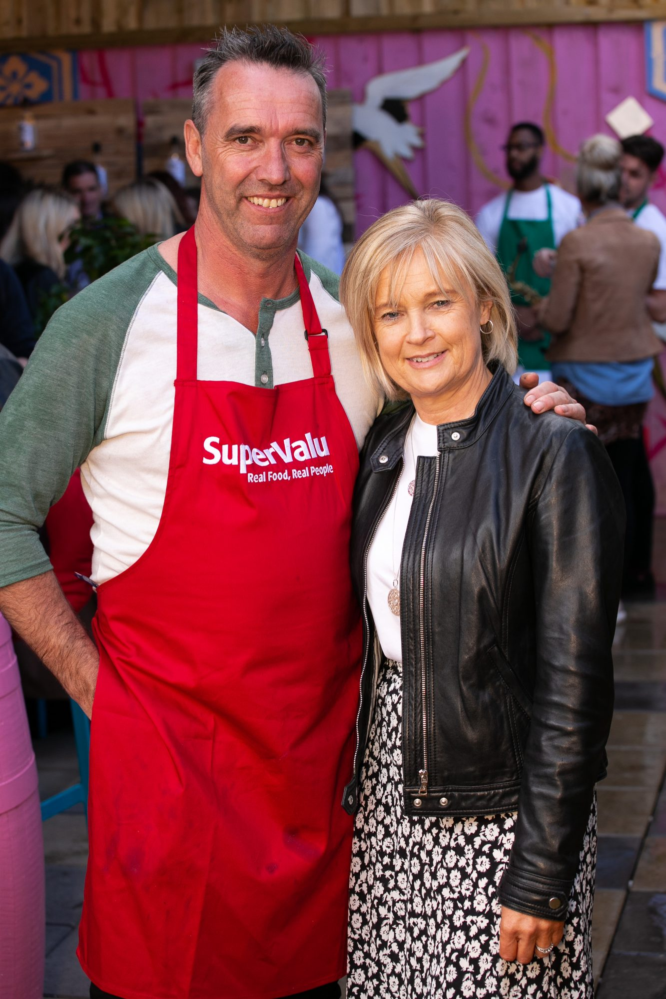 Kevin Dundon and Anne Marie Fenton pictured at the SuperValu Gin Garden held at Opium Rooftop Garden, Dublin.