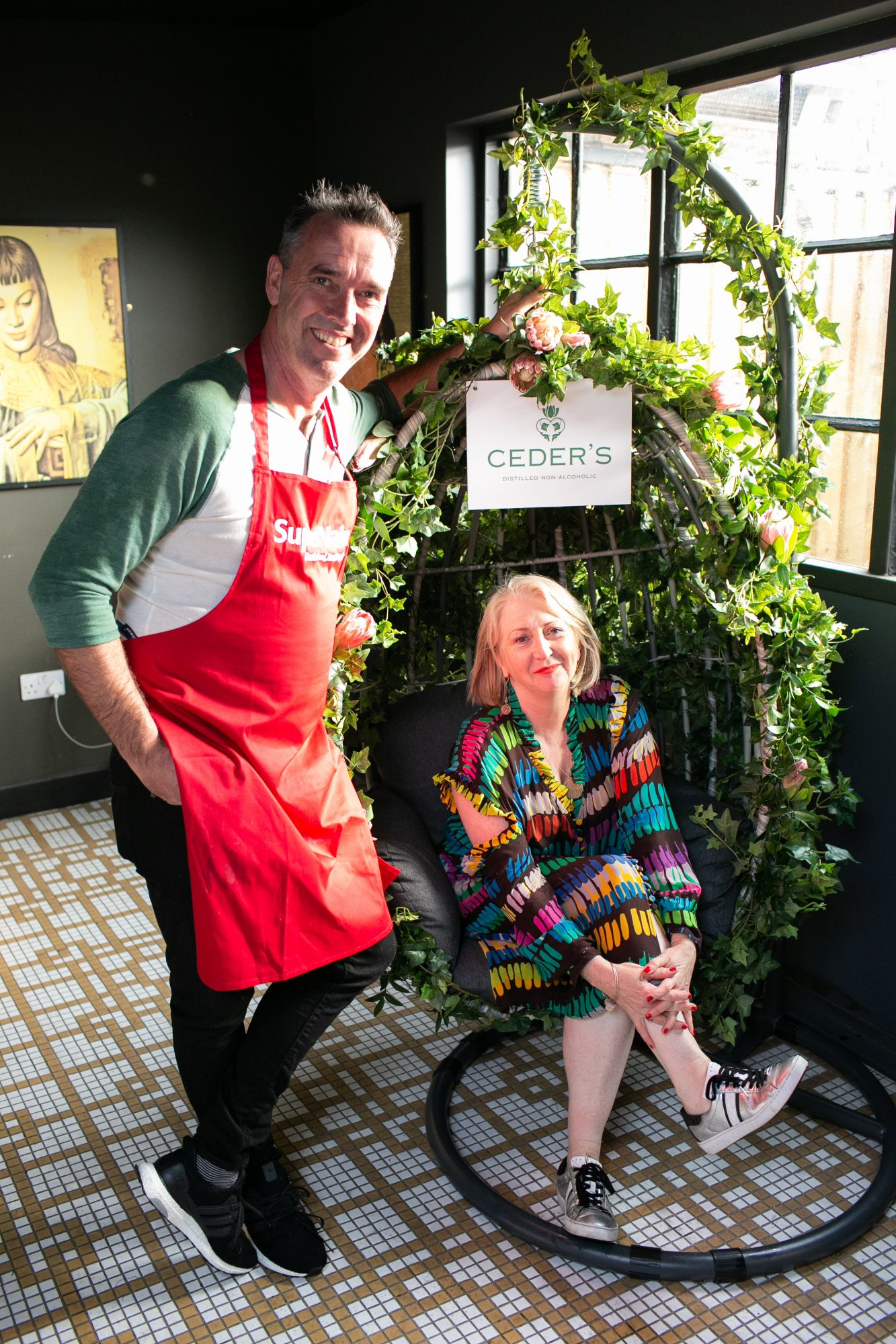 Kevin Dundon pictured with Bairbre Power at the SuperValu Gin Garden held at Opium Rooftop Garden, Dublin.
