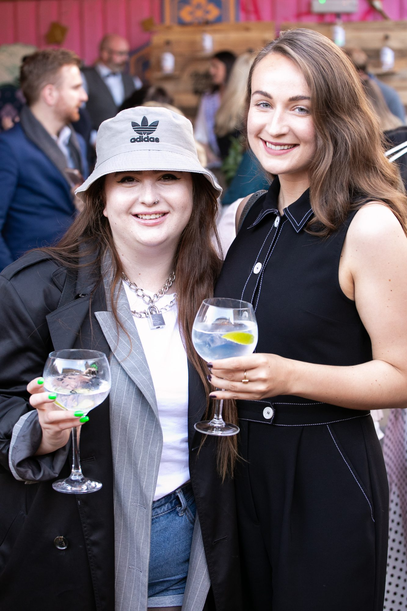 Sarah Magliocco and Ashley McDonnell at the SuperValu Gin Garden held at Opium Rooftop Garden, Dublin.