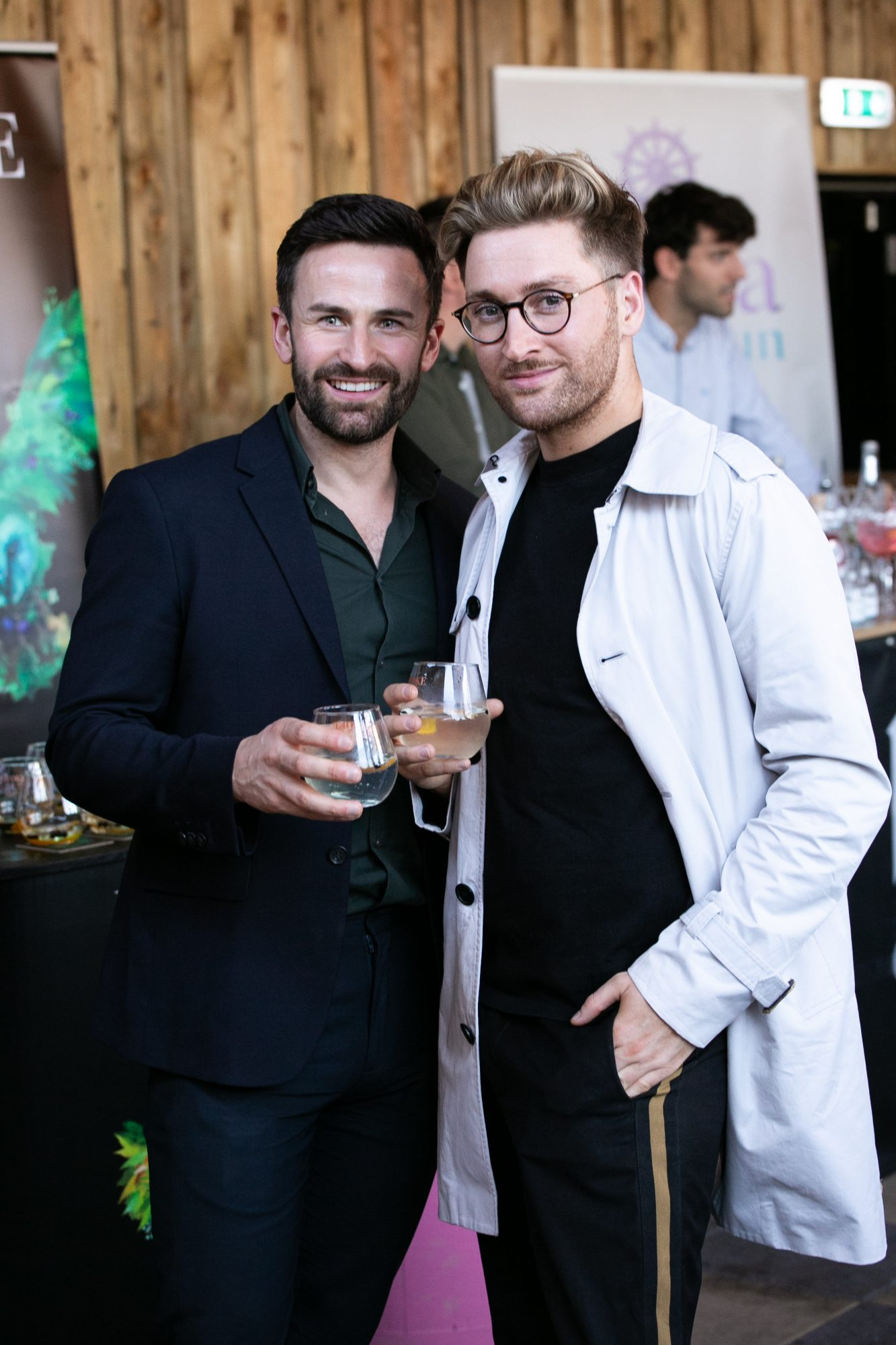 Shane Cassidy and Rob Kenny at the SuperValu Gin Garden held at Opium Rooftop Garden, Dublin.