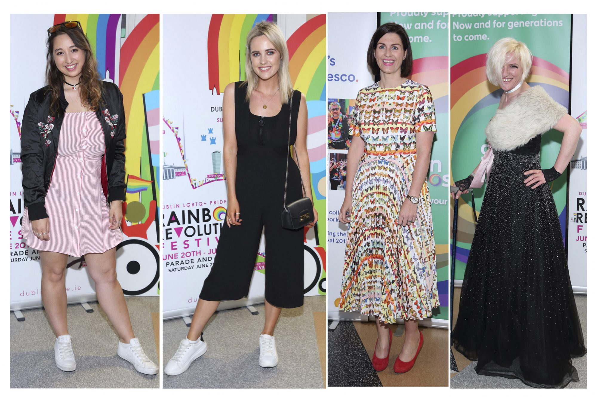 (L-R) Nirina Plunkett, Lorna Duffy, Aoife Beirne, and Nem Kearns pictured at the launch of the Dublin LGBTQ+ Pride Festival 2019 in partnership with platinum sponsor Tesco at the GPO, Dublin. Picture: Brian McEvoy Photography