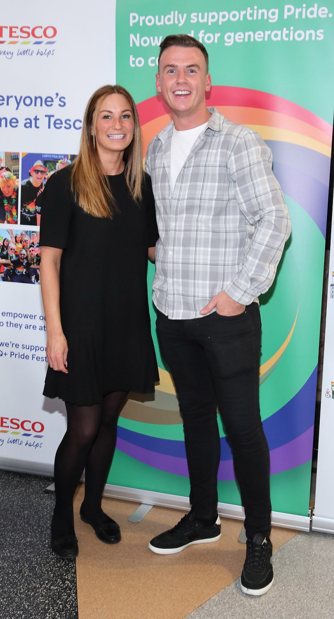 Miriam O'Shea and Dean Burnett pictured at the launch of the Dublin LGBTQ+ Pride Festival 2019 in partnership with platinum sponsor Tesco at the GPO, Dublin. Picture: Brian McEvoy Photography