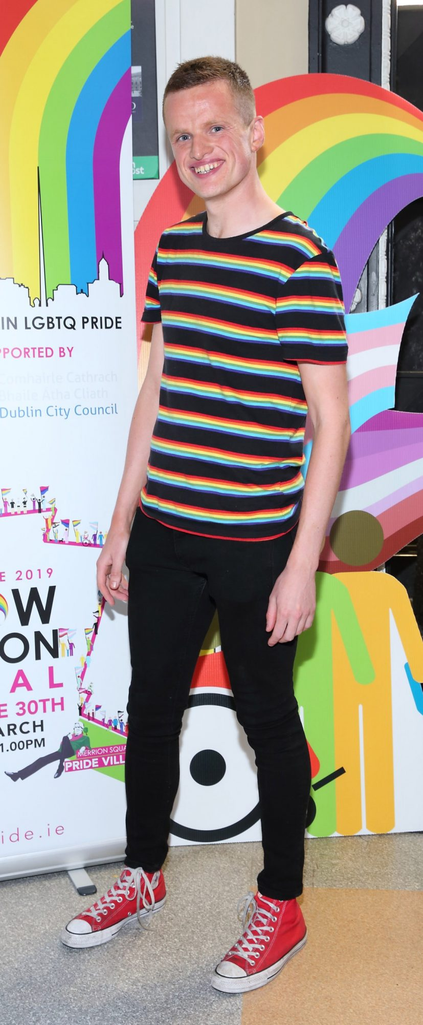 Chris Harkin pictured at the launch of the Dublin LGBTQ+ Pride Festival 2019 in partnership with platinum sponsor Tesco at the GPO, Dublin. Picture: Brian McEvoy Photography