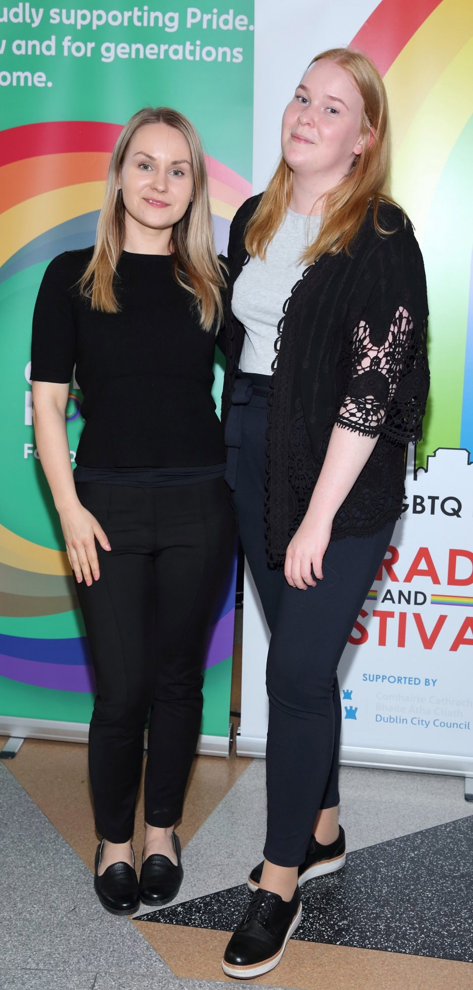 Marika Luostarven and Lina Jokinen pictured at the launch of the Dublin LGBTQ+ Pride Festival 2019 in partnership with platinum sponsor Tesco at the GPO, Dublin. Picture: Brian McEvoy Photography