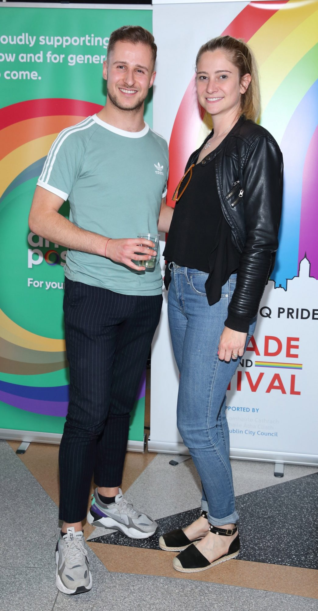 Alex Geisser and Lili Finn pictured at the launch of the Dublin LGBTQ+ Pride Festival 2019 in partnership with platinum sponsor Tesco at the GPO, Dublin. Picture: Brian McEvoy Photography