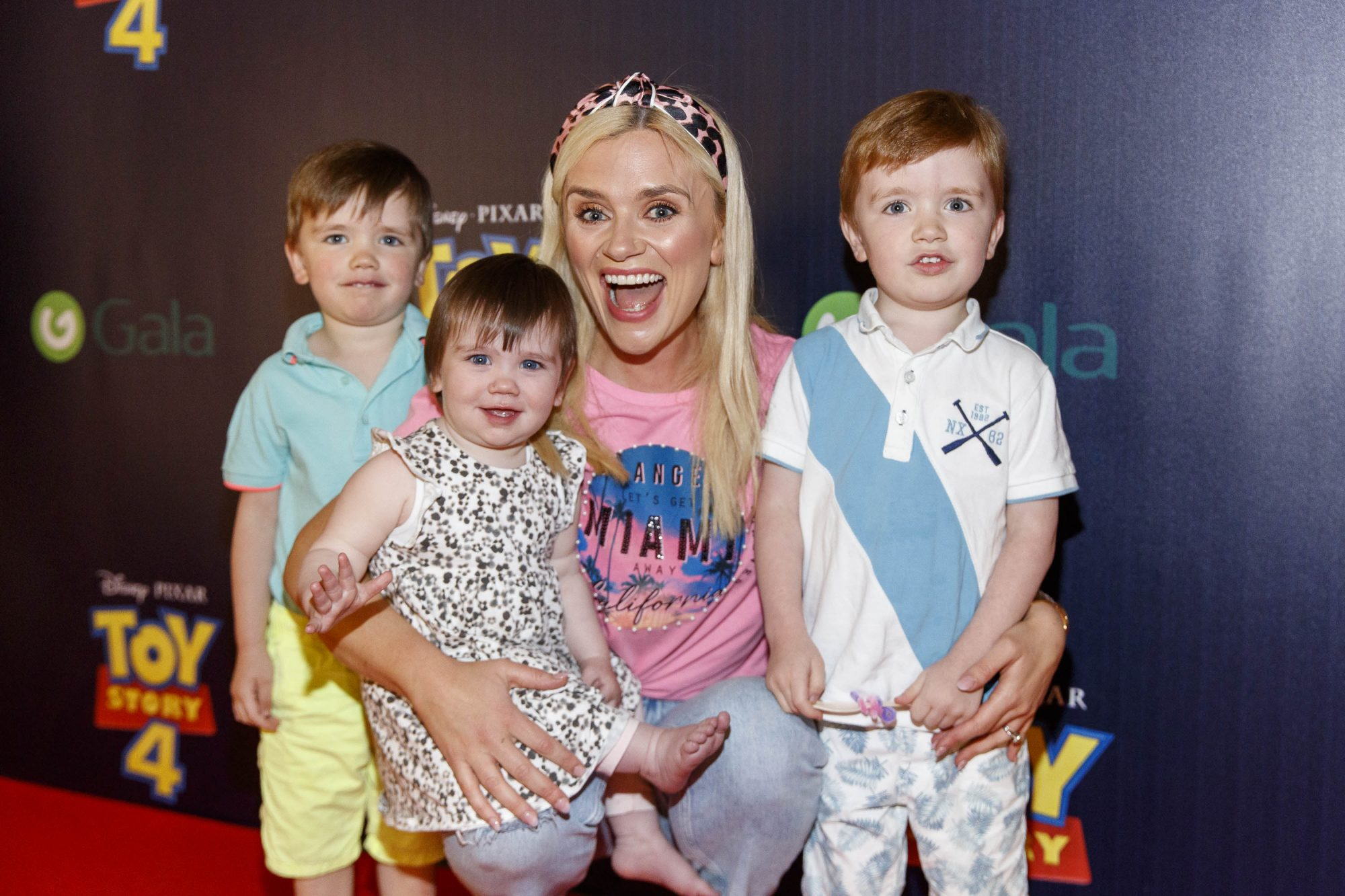 Karen Coster with children JJ (3), Eve (1) and Finn (4) pictured at the special event screening of Disney Pixar's TOY STORY 4 in the Light House Cinema Dublin. Picture: Andres Poveda