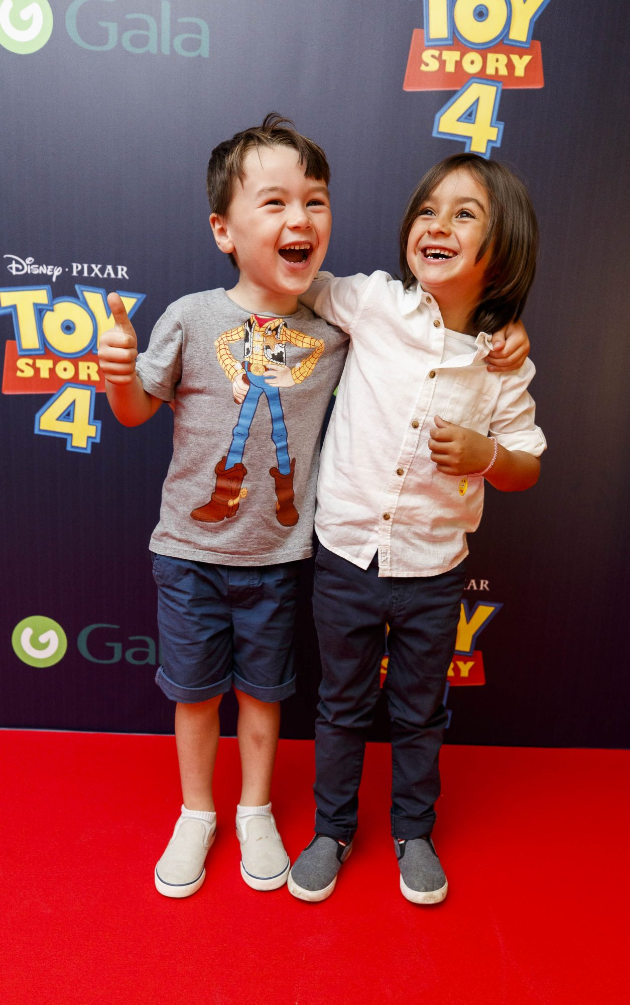 Sunny Kumar (6) and Ben Mulvaney (5) pictured at the special event screening of Disney Pixar's TOY STORY 4 in the Light House Cinema Dublin. Picture: Andres Poveda
