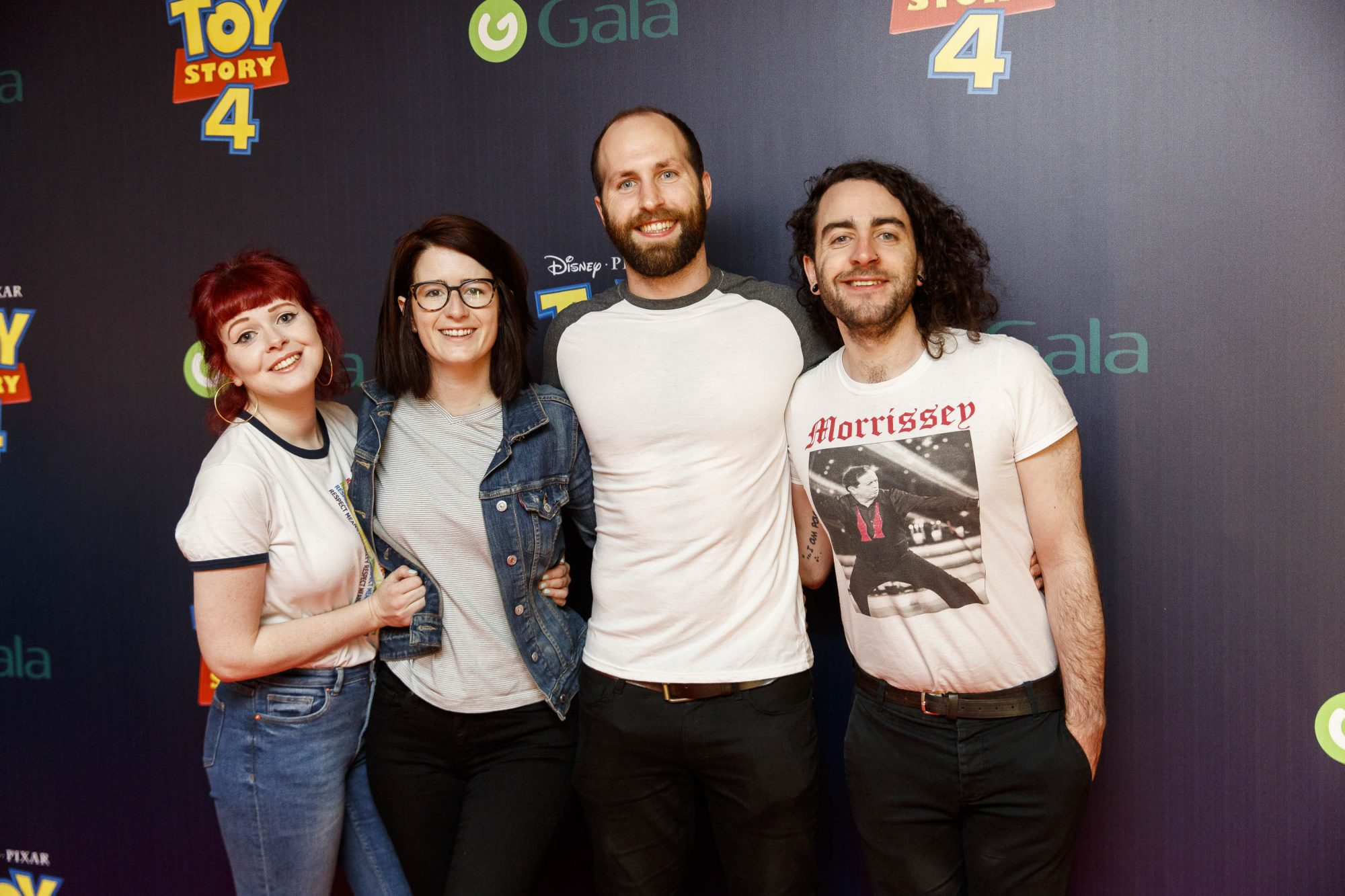 Lolsy Byrne, Kelly Hunnings and Aidan Green and Dave Reilly pictured at the special event screening of Disney Pixar's TOY STORY 4 in the Light House Cinema Dublin. Picture: Andres Poveda