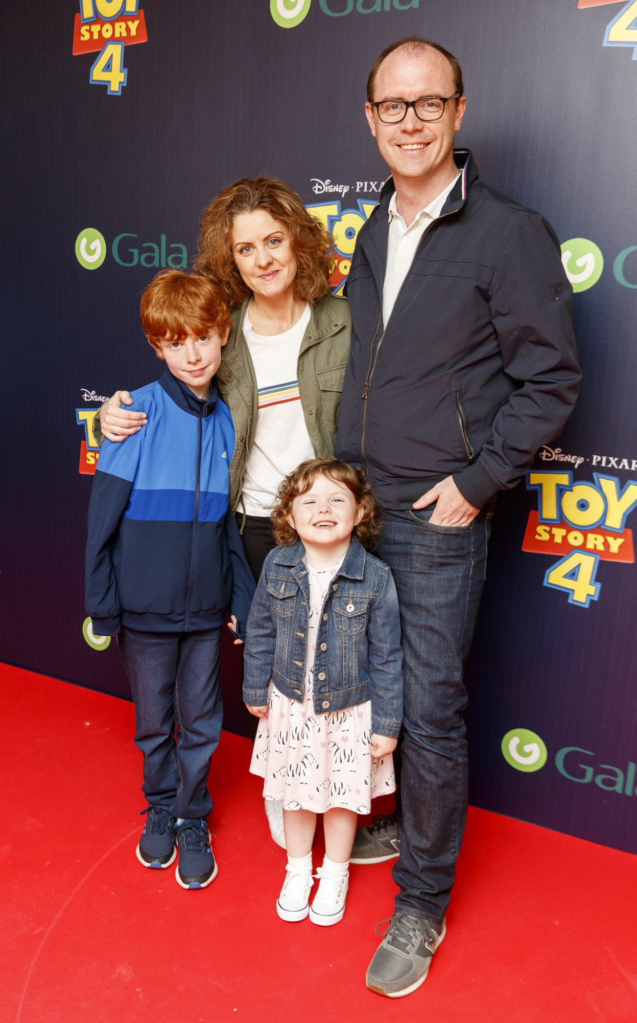 Brian Redmond with son Alex (10), wife Jen, and daughter Anna (4) pictured at the special event screening of Disney Pixar's TOY STORY 4 in the Light House Cinema Dublin. Picture: Andres Poveda