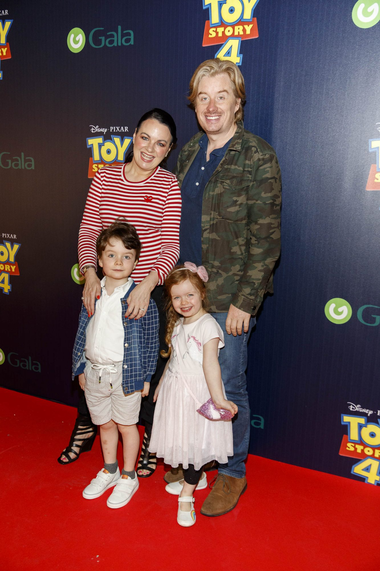 Teriona McCarthy with husband William White and children Max and Mini pictured at the special event screening of Disney Pixar's TOY STORY 4 in the Light House Cinema Dublin. Picture: Andres Poveda