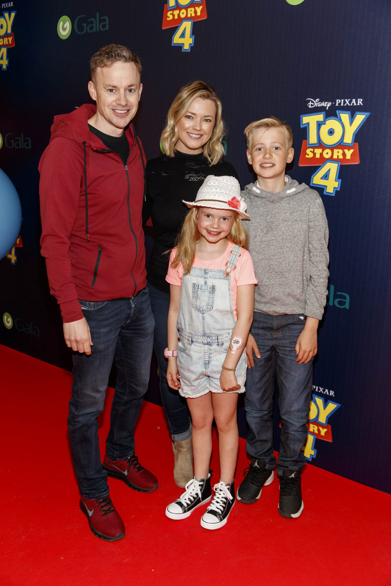 Steve, Helen, Ella (8) and Conor Curran (11) pictured at the special event screening of Disney Pixar's TOY STORY 4 in the Light House Cinema Dublin. Picture: Andres Poveda