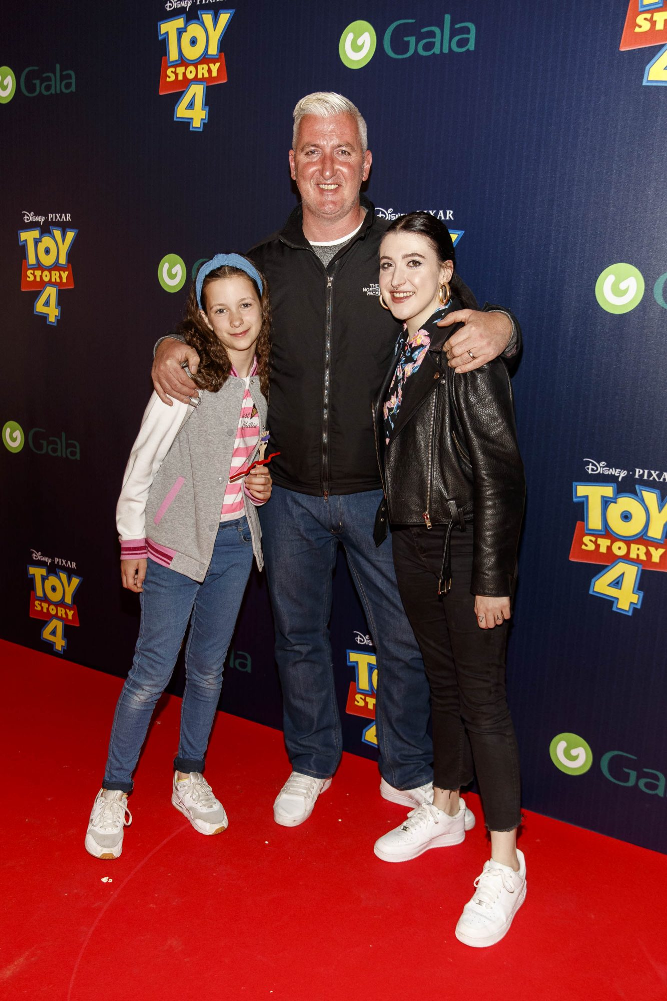 Leanne Woodfull (right) with father Colin and sister Maeve pictured at the special event screening of Disney Pixar's TOY STORY 4 in the Light House Cinema Dublin. Picture: Andres Poveda